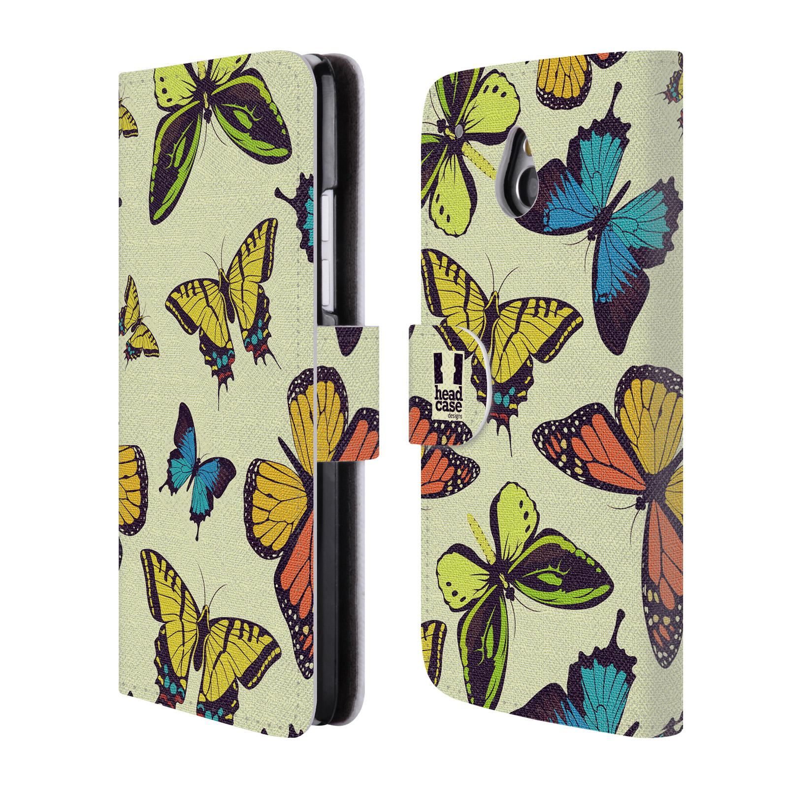 HEAD CASE Flipové pouzdro pro mobil HTC ONE MINI (M4) Vzorkovaný motýl MIX