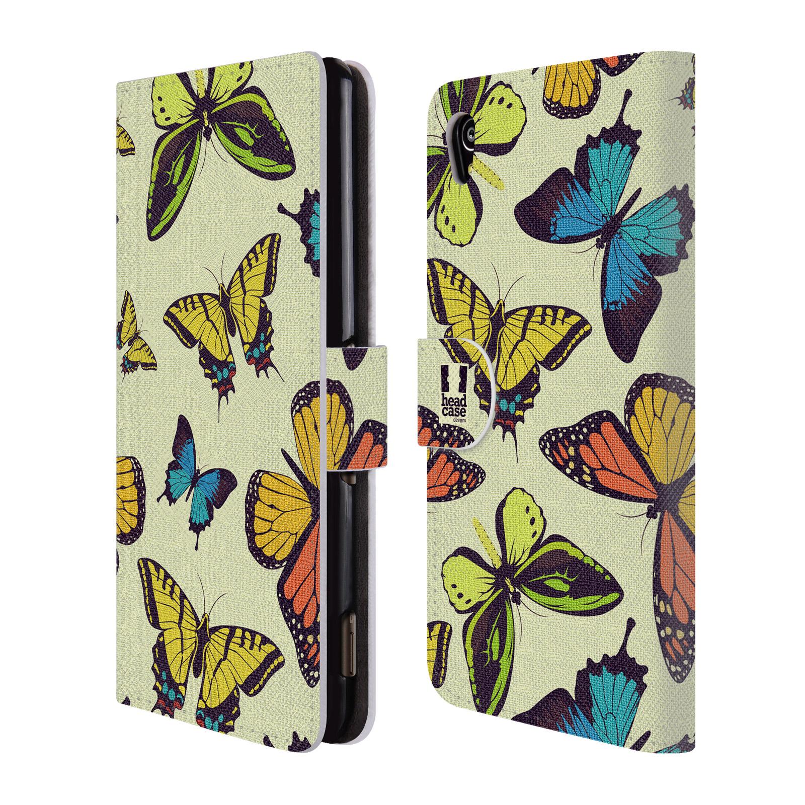 HEAD CASE Flipové pouzdro pro mobil SONY XPERIA M4 AQUA Vzorkovaný motýl MIX