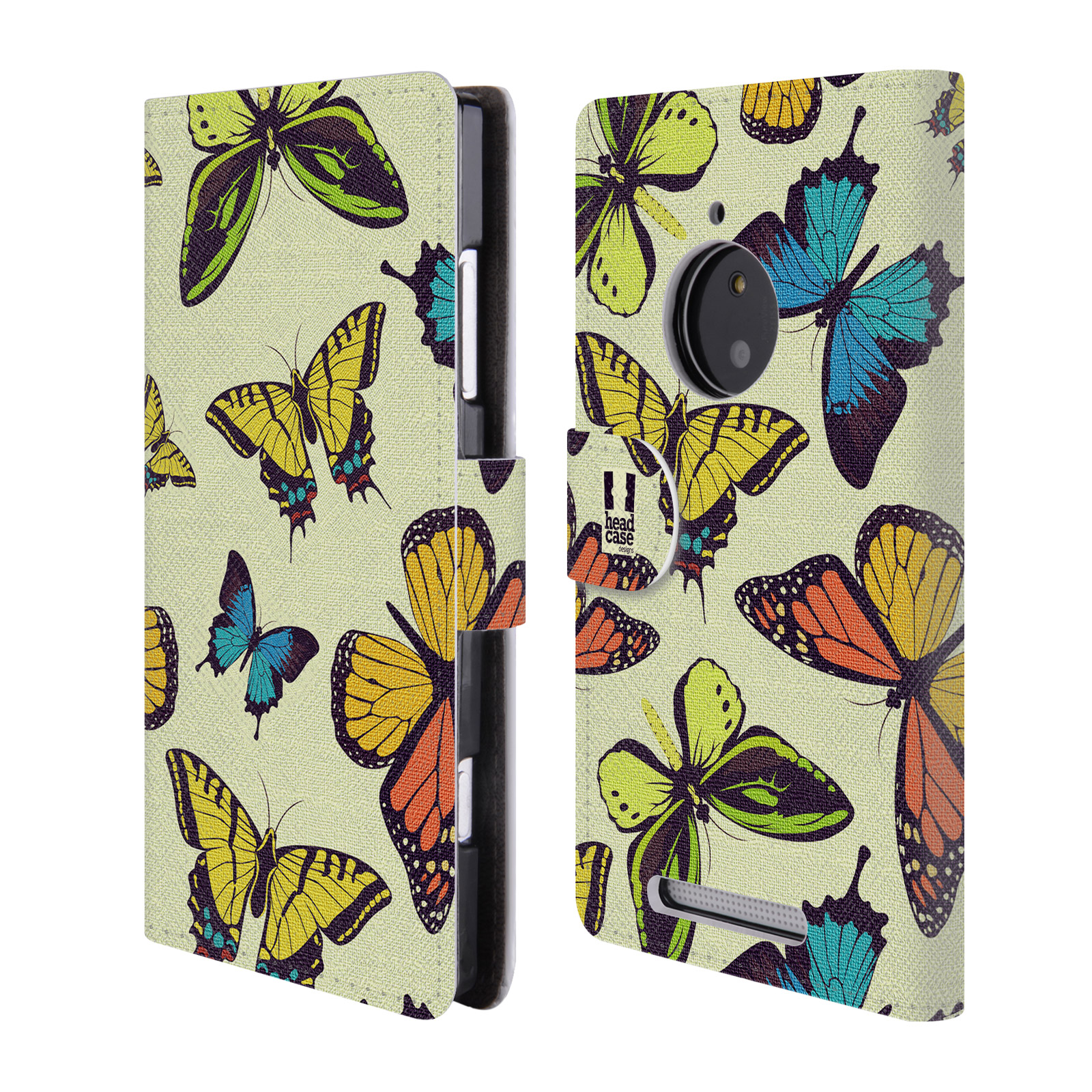 HEAD CASE Flipové pouzdro pro mobil NOKIA LUMIA 830 Vzorkovaný motýl MIX