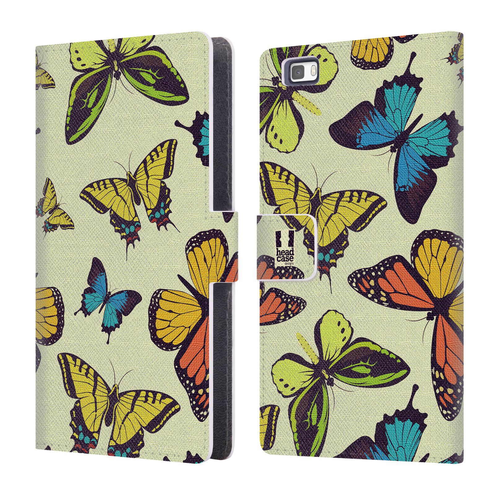 HEAD CASE Flipové pouzdro pro mobil Huawei P8 LITE Vzorkovaný motýl MIX