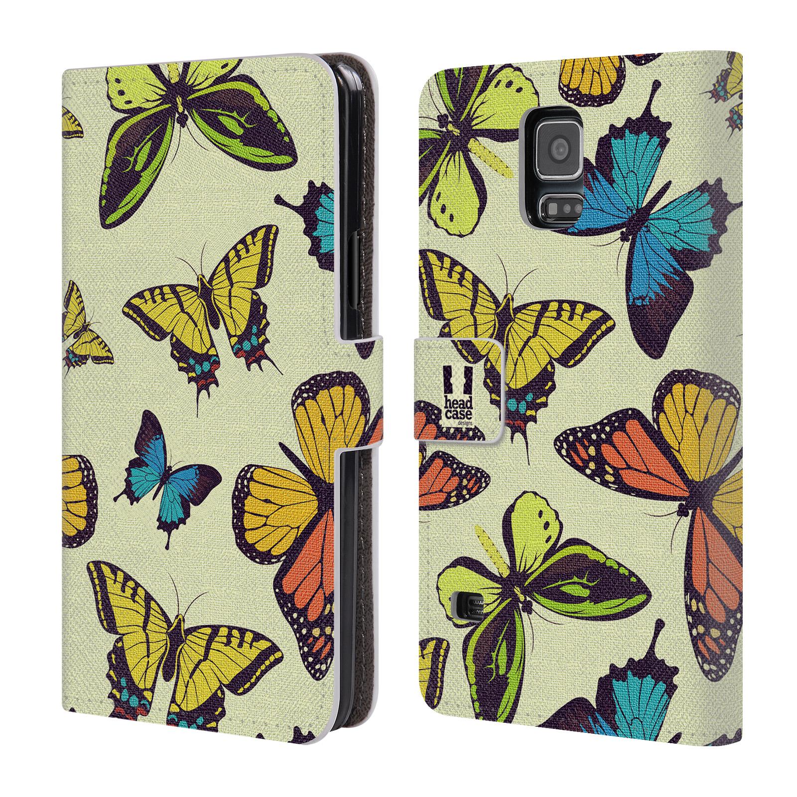 HEAD CASE Flipové pouzdro pro mobil Samsung Galaxy S5 / S5 NEO Vzorkovaný motýl MIX