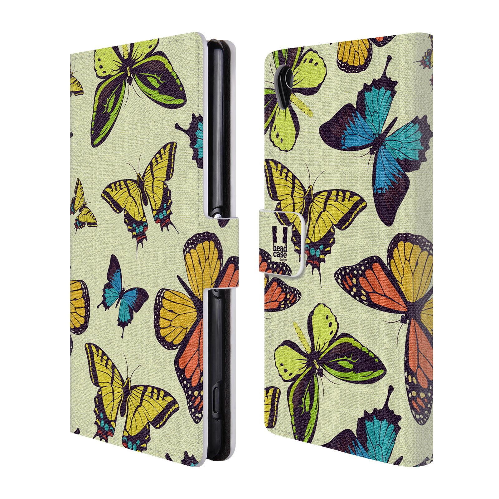 HEAD CASE Flipové pouzdro pro mobil SONY XPERIA Z3 Vzorkovaný motýl MIX