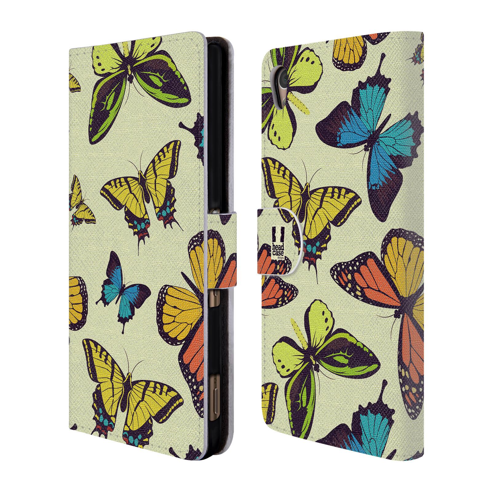 HEAD CASE Flipové pouzdro pro mobil SONY XPERIA Z3+ (PLUS) Vzorkovaný motýl MIX