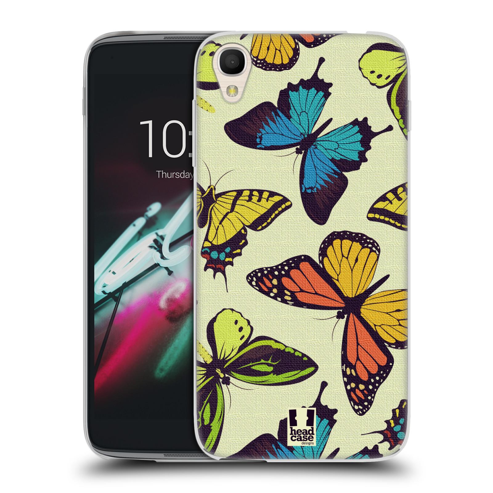 HEAD CASE silikonový obal na mobil Alcatel Idol 3 OT-6039Y (4.7) vzor Motýlci divočina