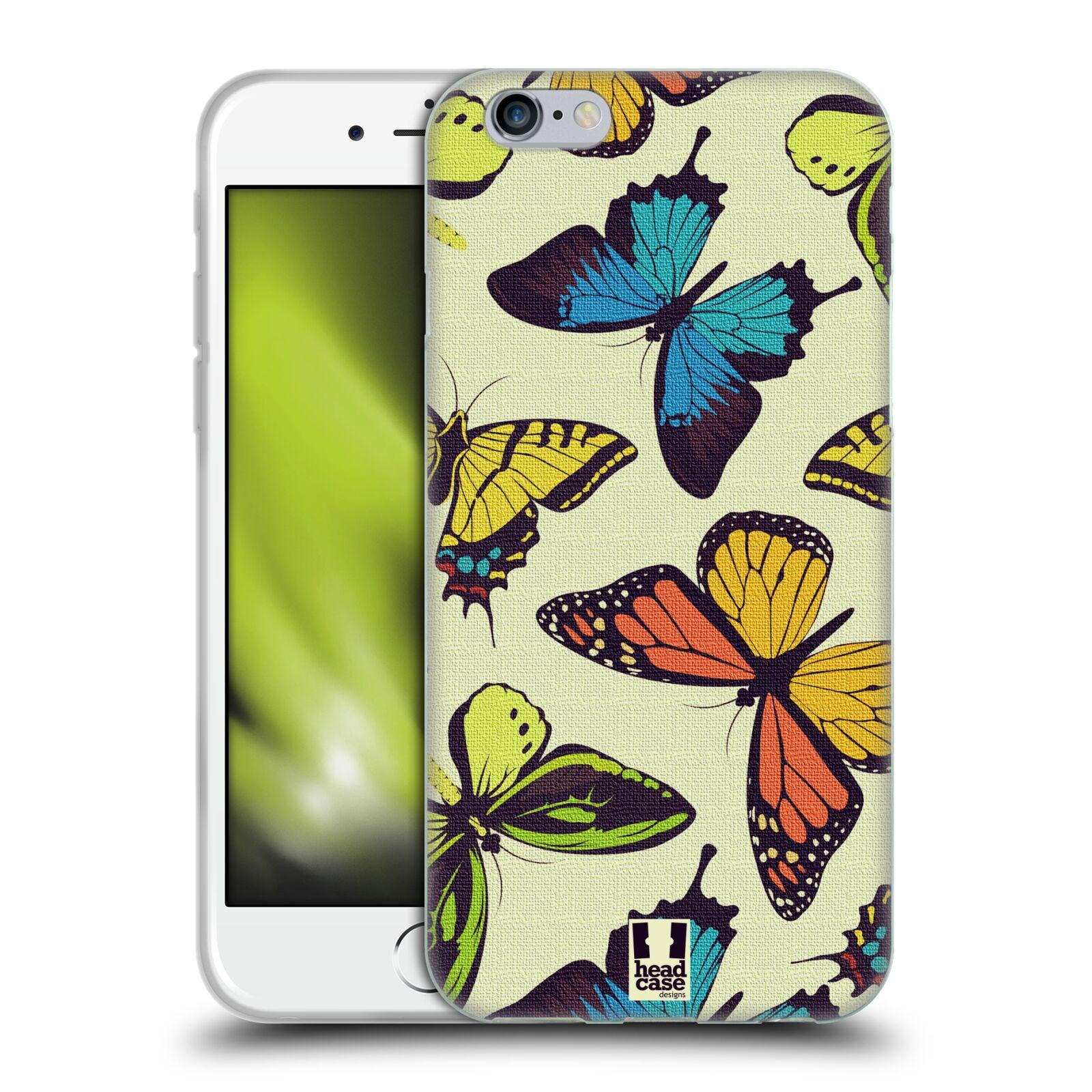 HEAD CASE silikonový obal na mobil Apple Iphone 6/6S vzor Motýlci divočina