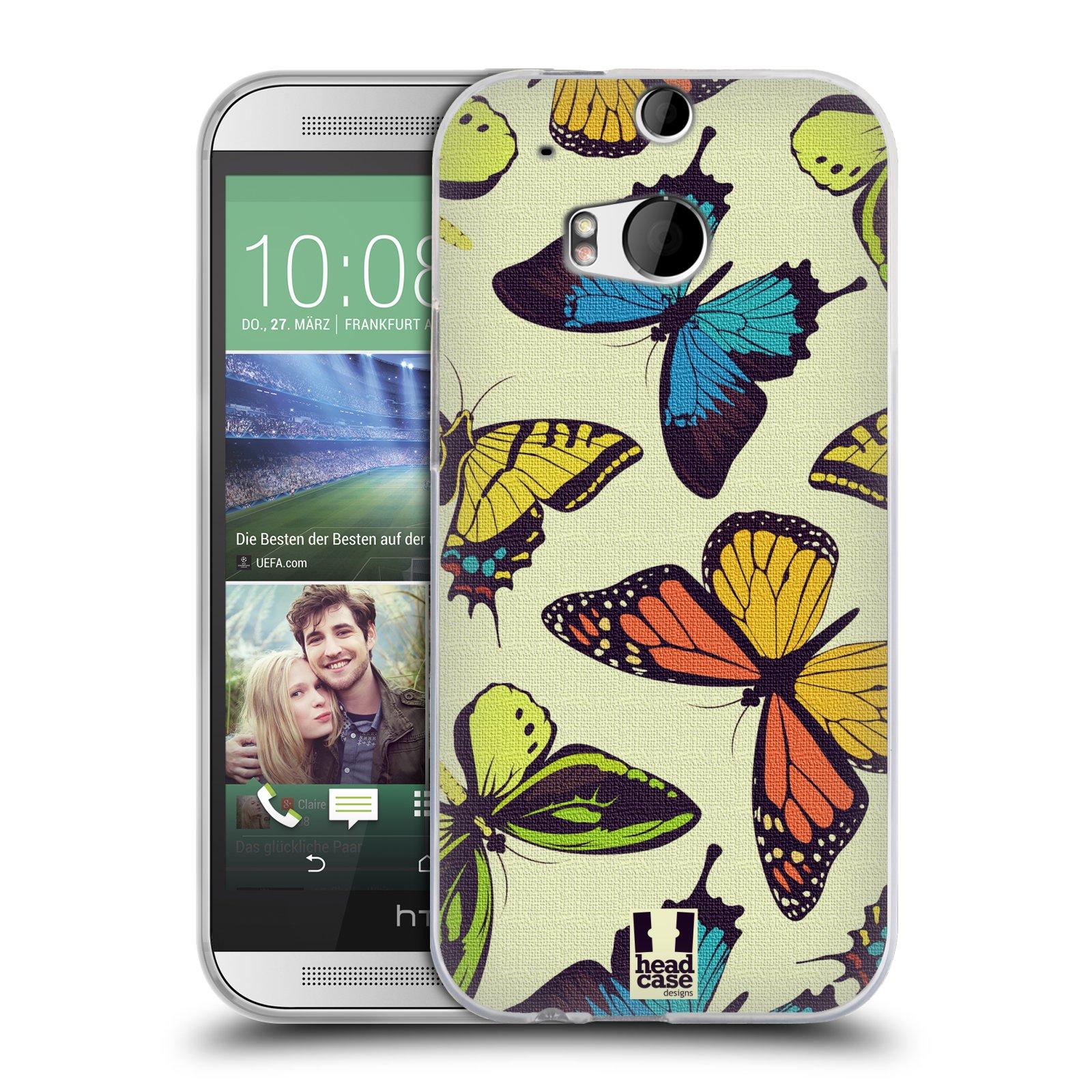 HEAD CASE silikonový obal na mobil HTC ONE (M8) vzor Motýlci divočina