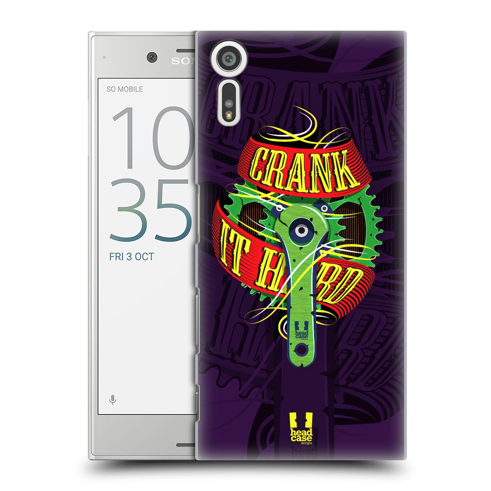 HEAD CASE plastový obal na mobil Sony Xperia XZ Cyklista pedály šlápni do toho CRANK IT HARD