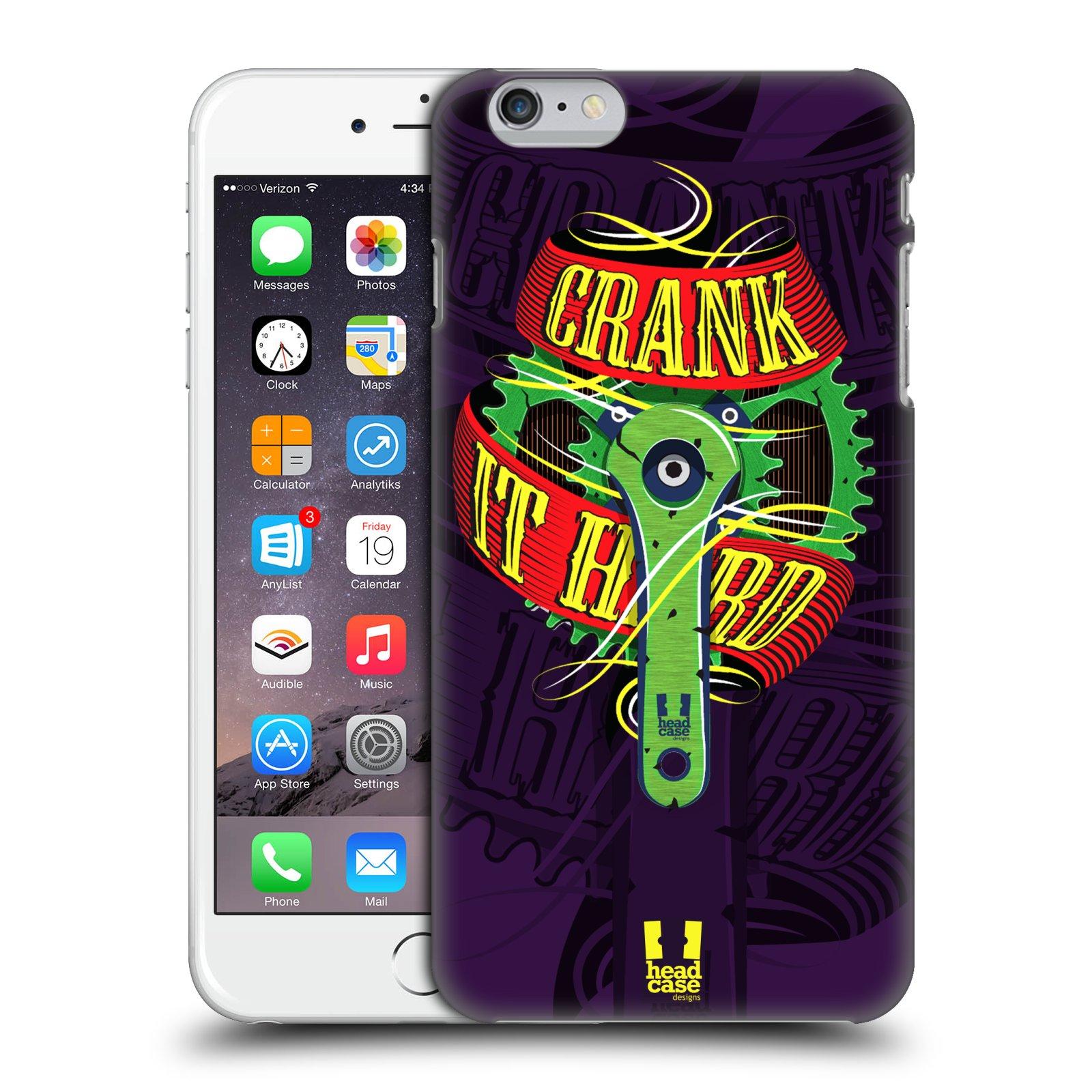 Plastové pouzdro pro mobil Apple Iphone 6 PLUS / 6S PLUS Cyklista pedály šlápni do toho CRANK IT HARD