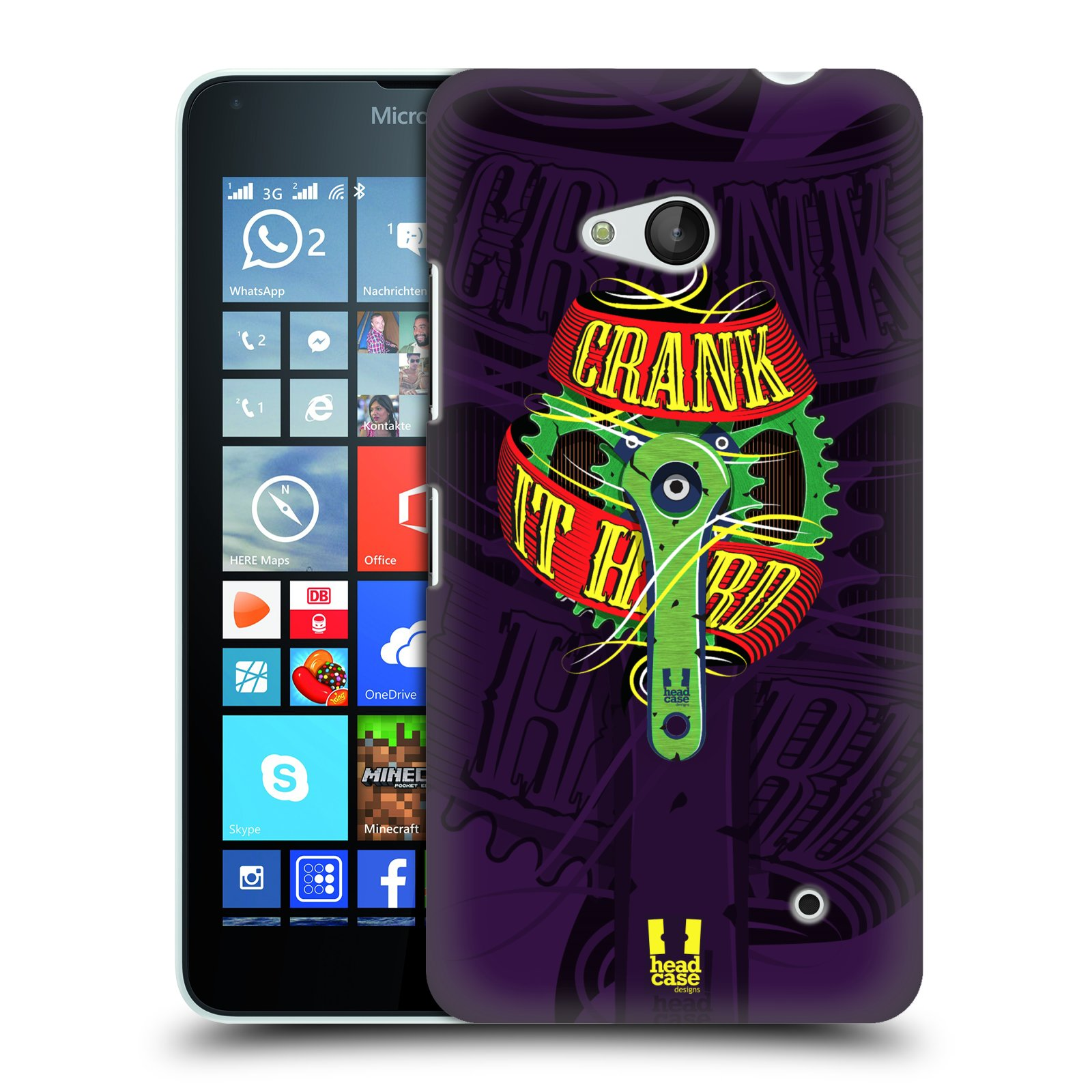 HEAD CASE plastový obal na mobil Nokia Lumia 640 Cyklista pedály šlápni do toho CRANK IT HARD