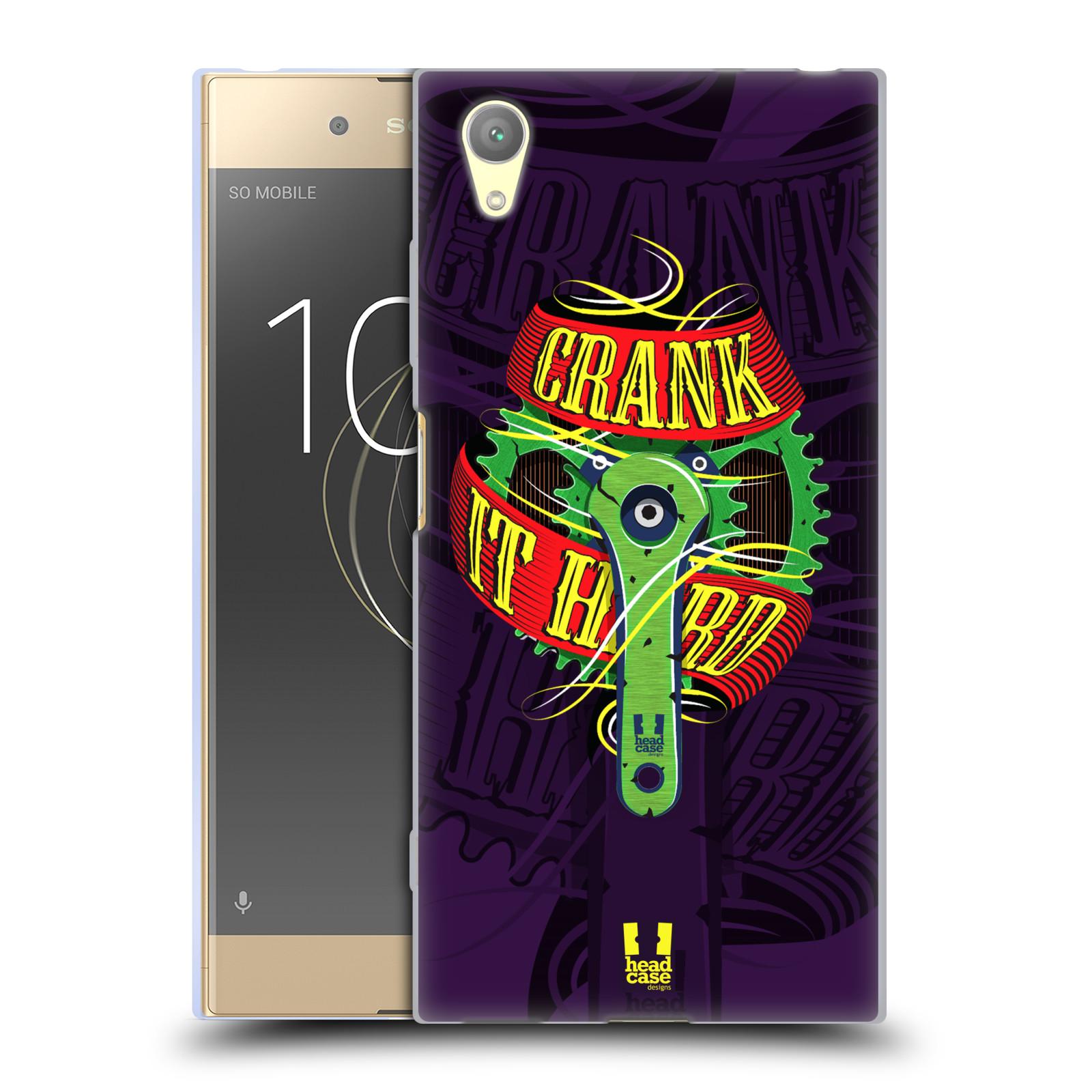 HEAD CASE silikonový obal na mobil Sony Xperia XA1 PLUS Cyklista pedály šlápni do toho CRANK IT HARD