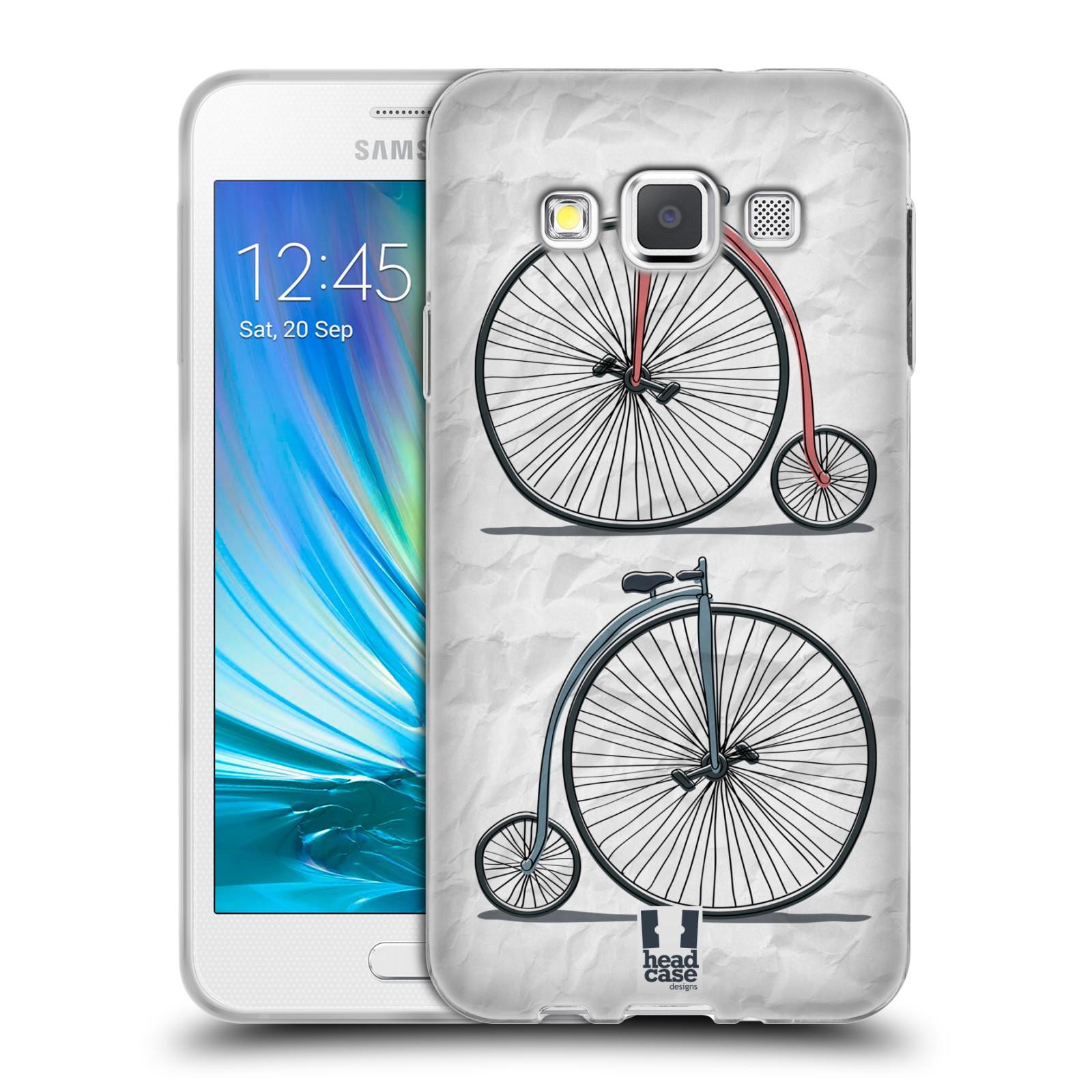 HEAD CASE silikonový obal na mobil Samsung Galaxy A3 vzor Retro kola VELKÉ KOLO