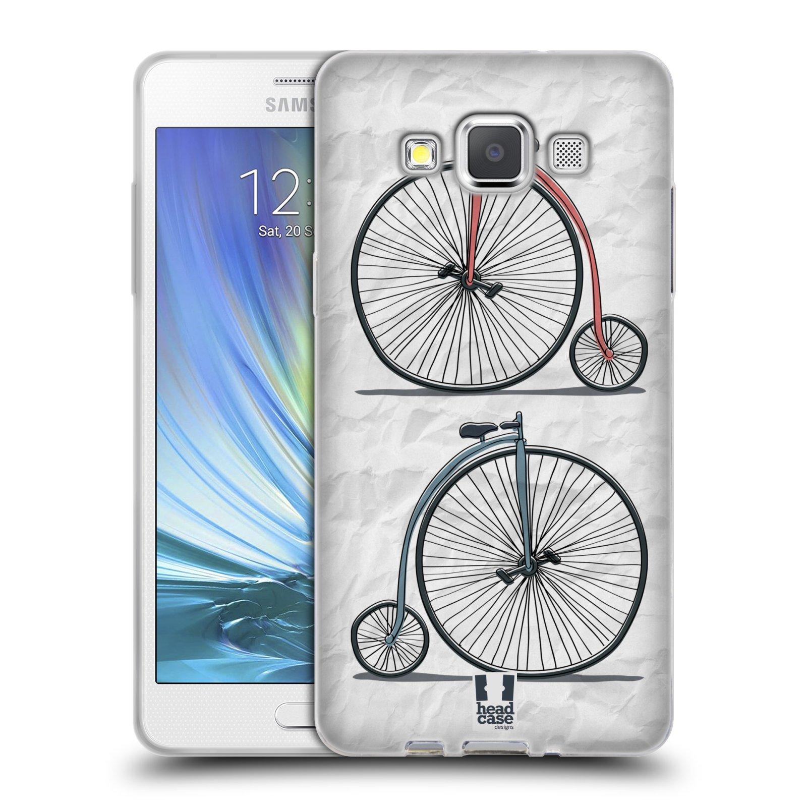 HEAD CASE silikonový obal na mobil Samsung Galaxy A5 vzor Retro kola VELKÉ KOLO