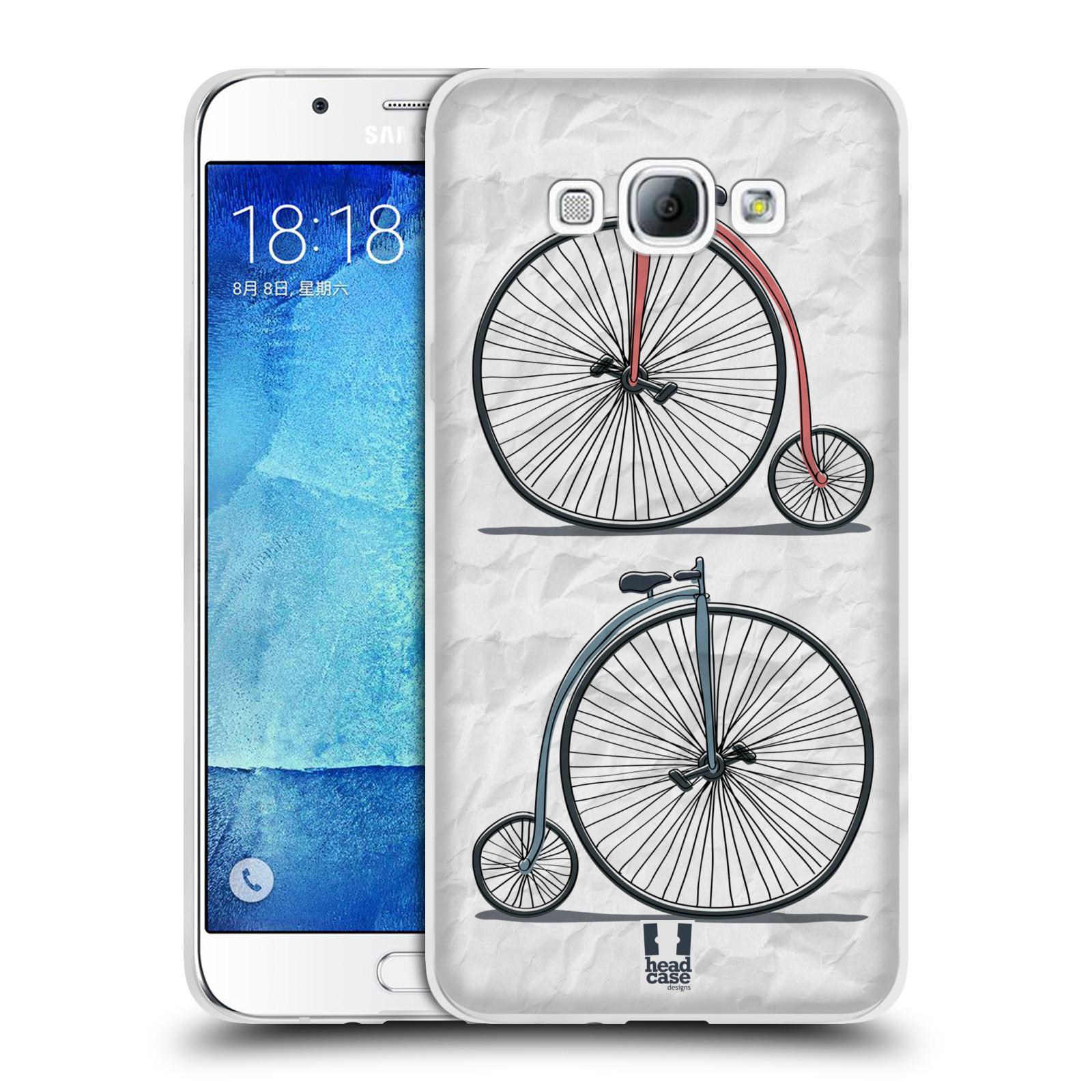 HEAD CASE silikonový obal na mobil Samsung Galaxy A8 vzor Retro kola VELKÉ KOLO