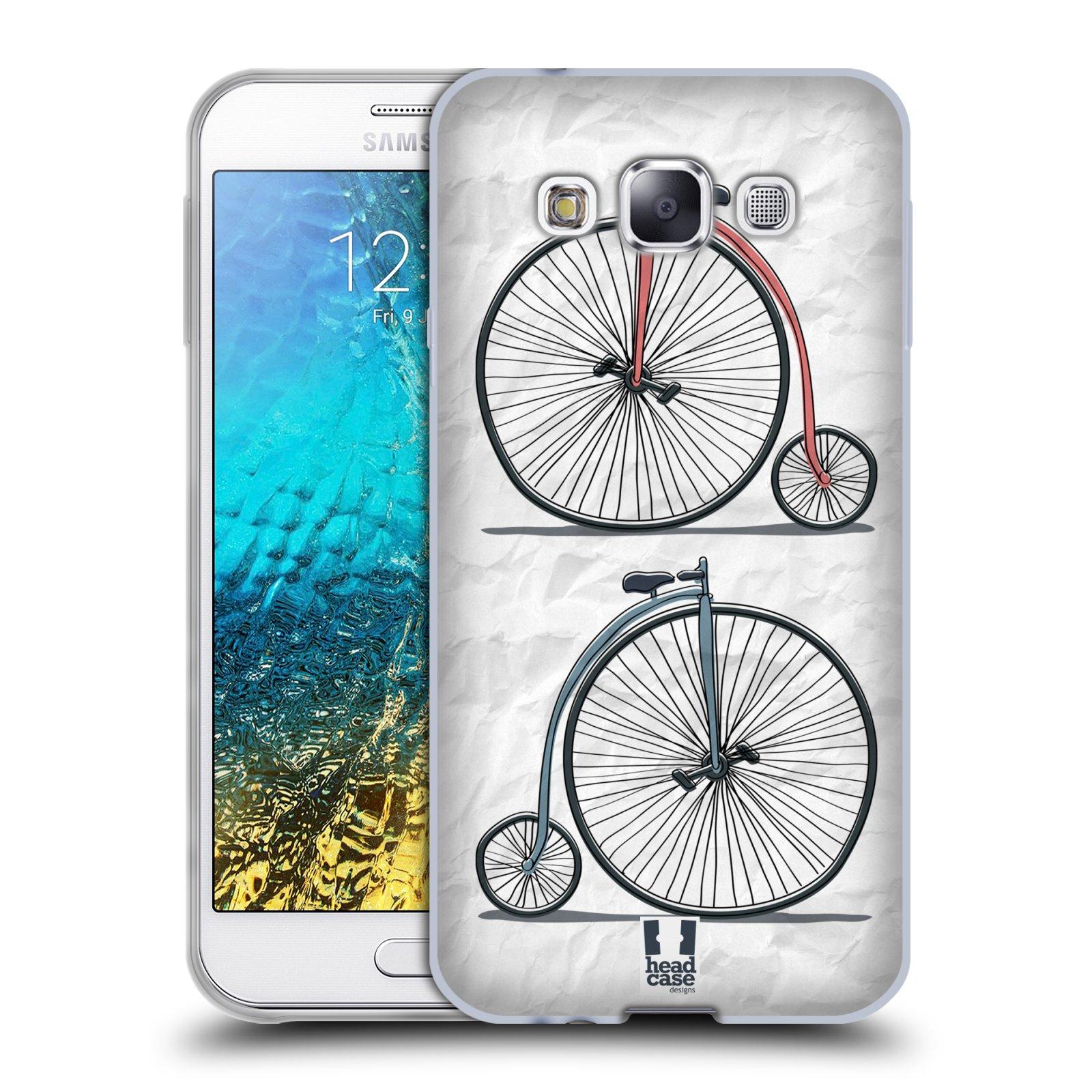 HEAD CASE silikonový obal na mobil Samsung Galaxy E5 vzor Retro kola VELKÉ KOLO