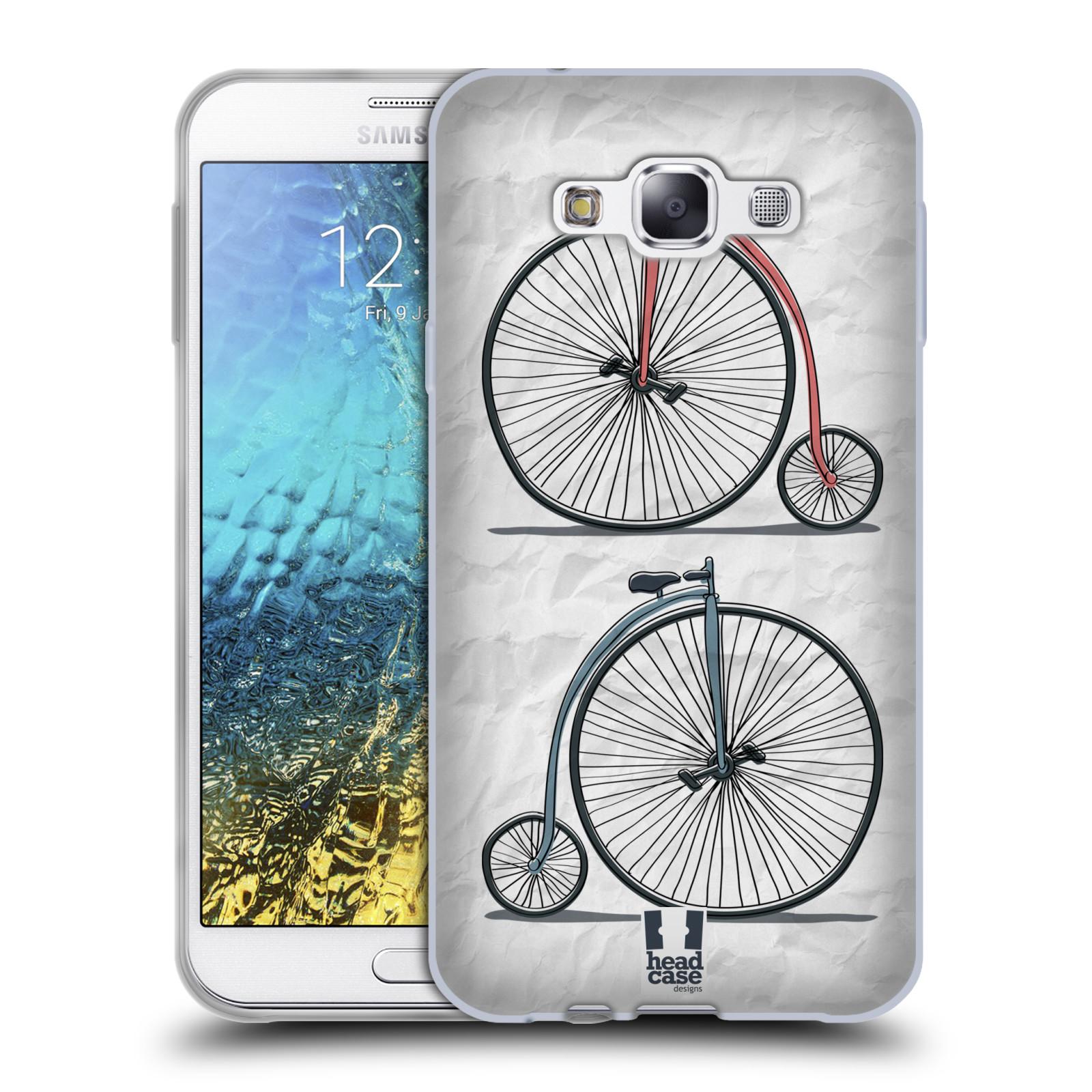 HEAD CASE silikonový obal na mobil Samsung Galaxy E7 vzor Retro kola VELKÉ KOLO