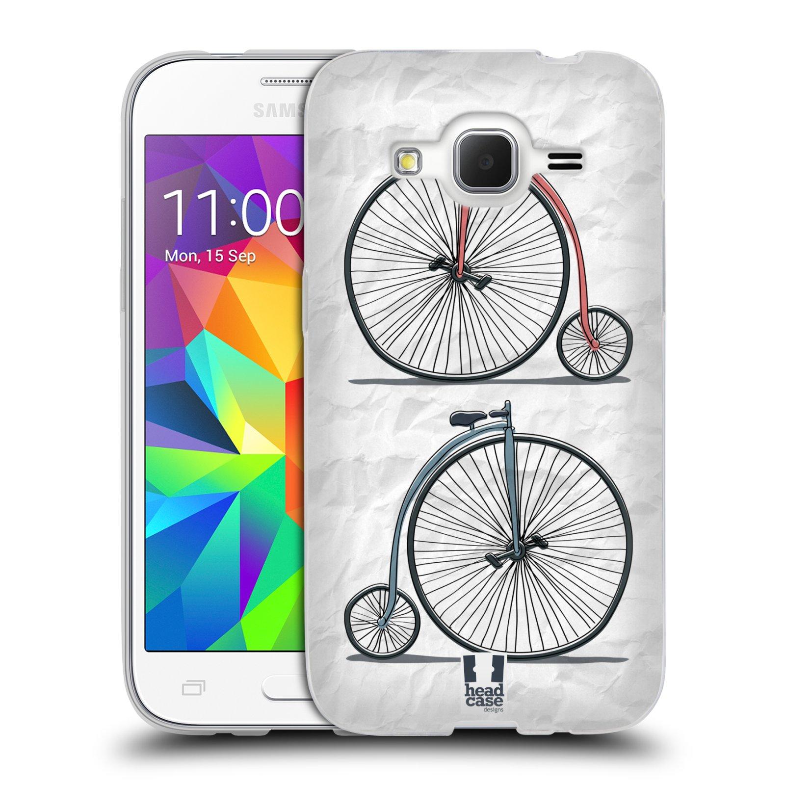 HEAD CASE silikonový obal na mobil Samsung Galaxy Core Prime (G360) vzor Retro kola VELKÉ KOLO