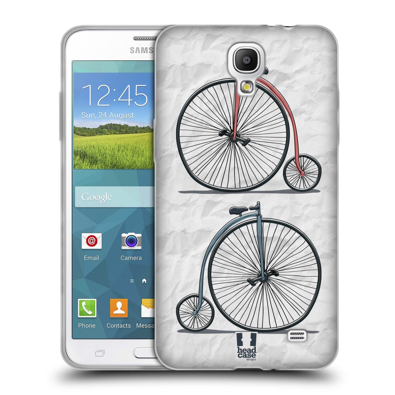 HEAD CASE silikonový obal na mobil Samsung Galaxy Mega 2 vzor Retro kola VELKÉ KOLO
