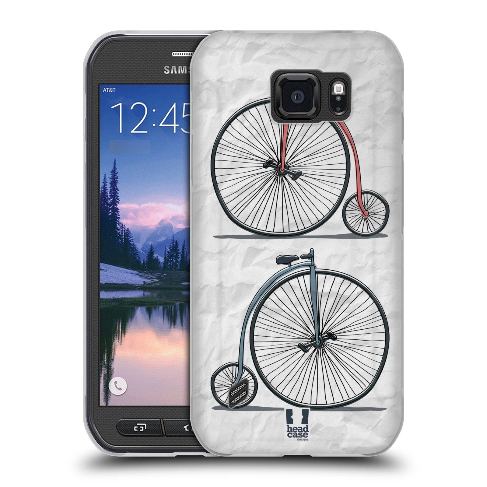 HEAD CASE silikonový obal na mobil Samsung Galaxy S6 ACTIVE vzor Retro kola VELKÉ KOLO
