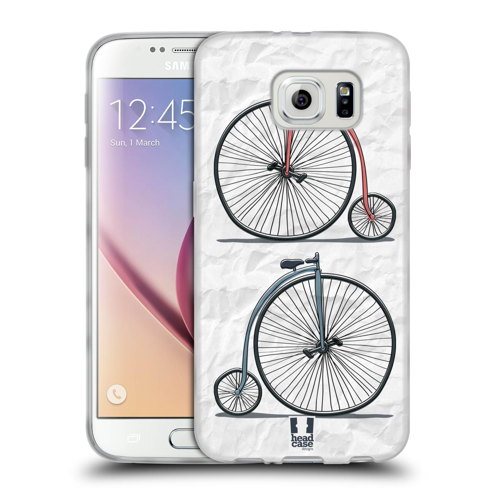 HEAD CASE silikonový obal na mobil Samsung Galaxy S6 vzor Retro kola VELKÉ KOLO