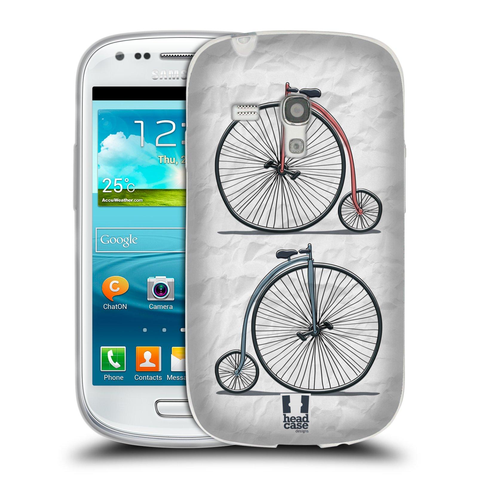 HEAD CASE silikonový obal na mobil Samsung Galaxy S3 MINI i8190 vzor Retro kola VELKÉ KOLO
