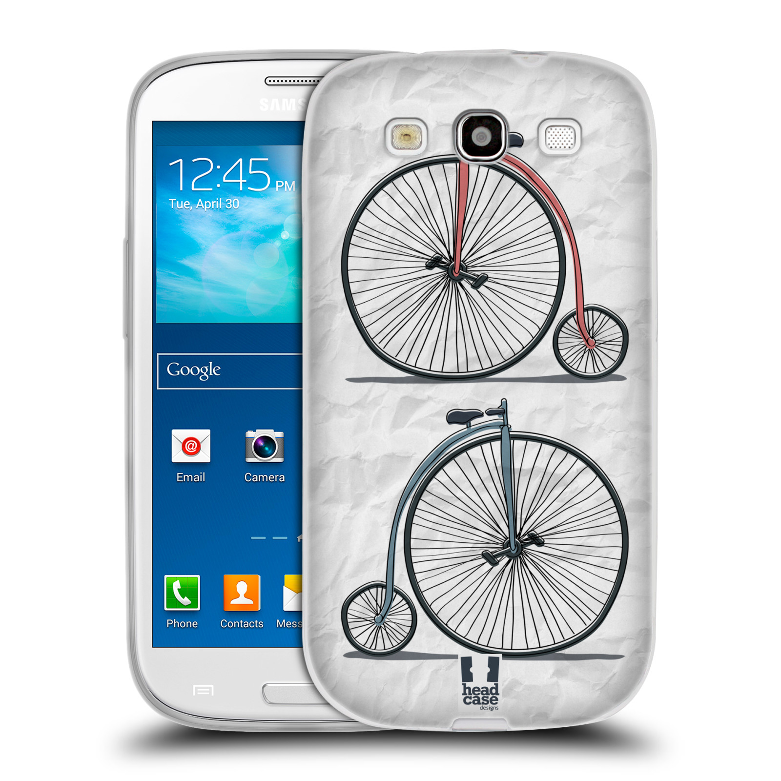 HEAD CASE silikonový obal na mobil Samsung Galaxy S3 i9300 vzor Retro kola VELKÉ KOLO