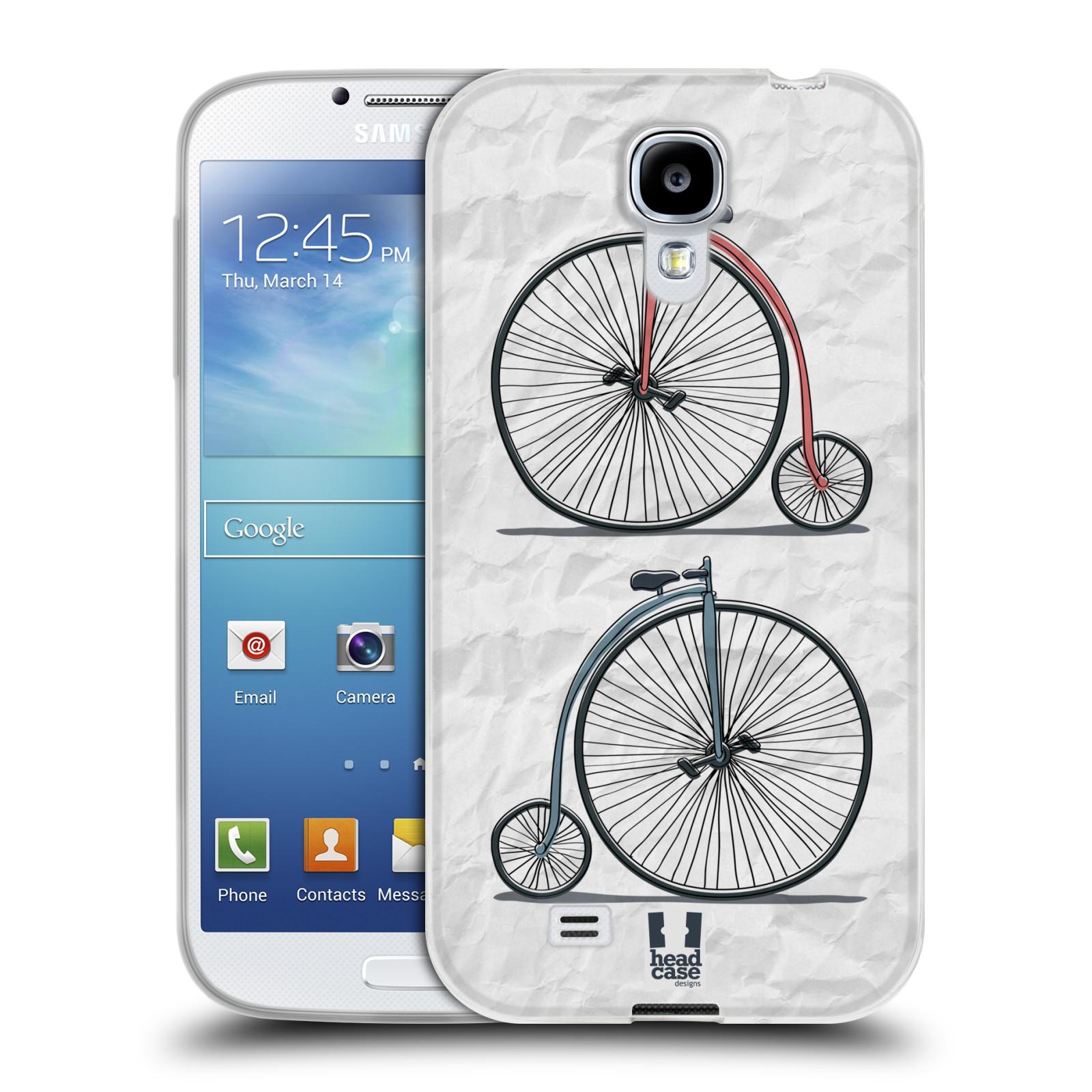 HEAD CASE silikonový obal na mobil Samsung Galaxy S4 i9500 vzor Retro kola VELKÉ KOLO