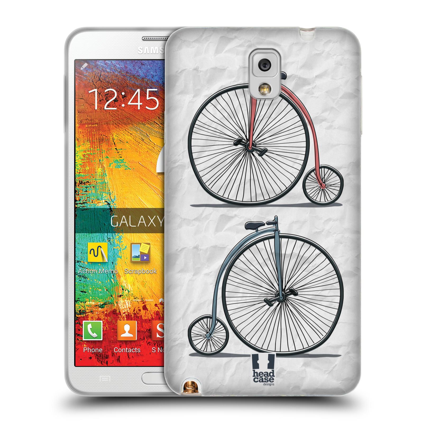 HEAD CASE silikonový obal na mobil Samsung Galaxy Note 3 (N9005) vzor Retro kola VELKÉ KOLO