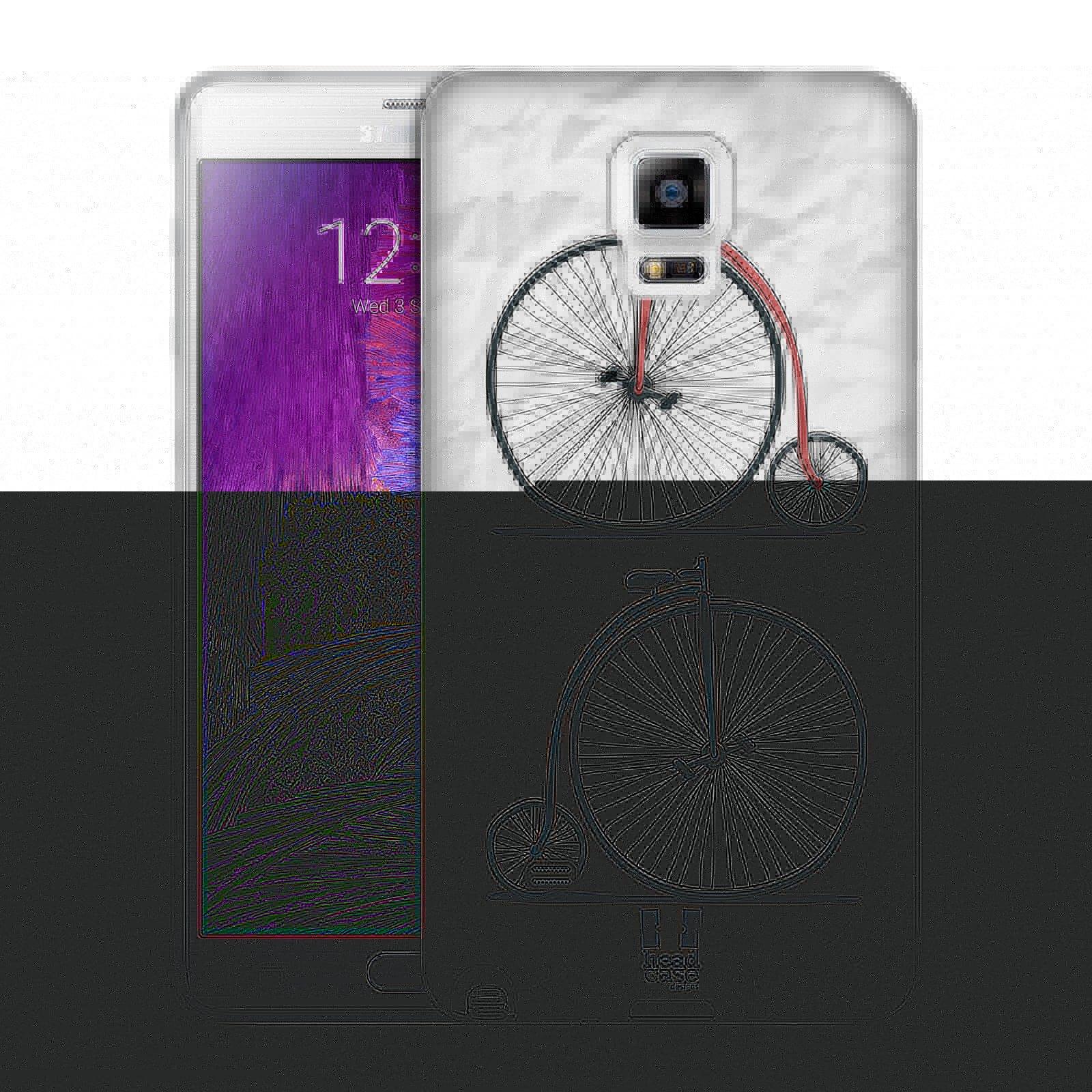 HEAD CASE silikonový obal na mobil Samsung Galaxy Note 4 (N910) vzor Retro kola VELKÉ KOLO