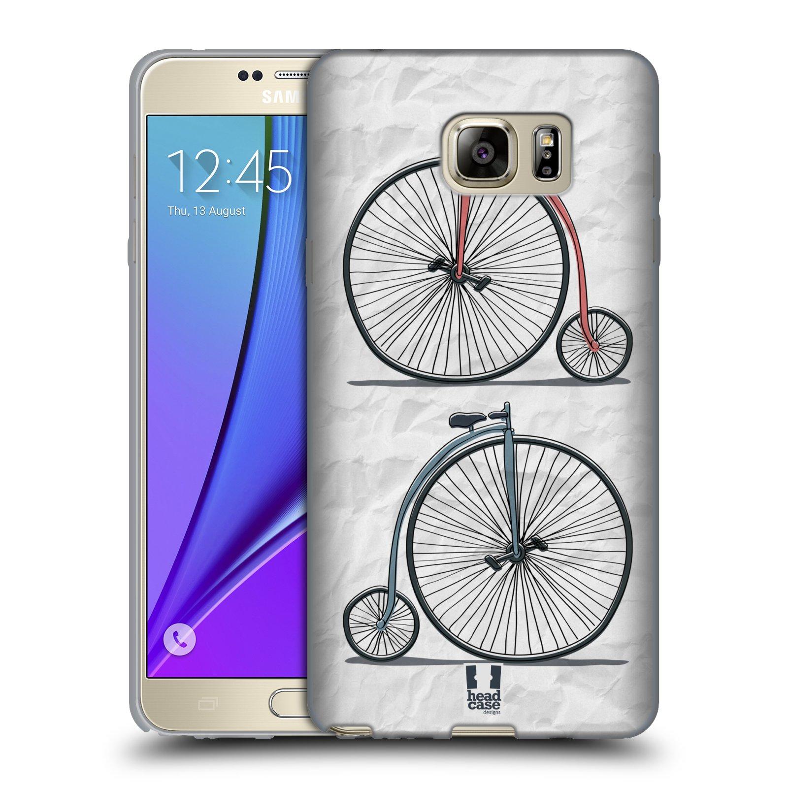 HEAD CASE silikonový obal na mobil Samsung Galaxy Note 5 (N920) vzor Retro kola VELKÉ KOLO