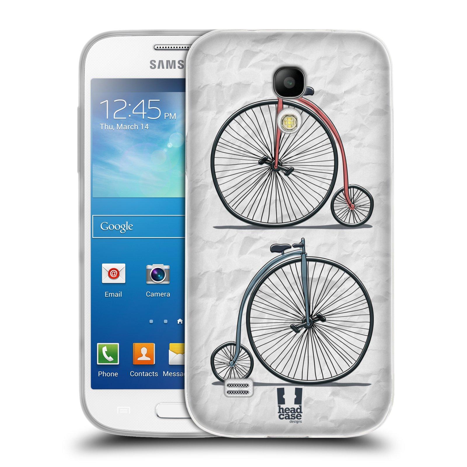 HEAD CASE silikonový obal na mobil Samsung Galaxy S4 MINI vzor Retro kola VELKÉ KOLO