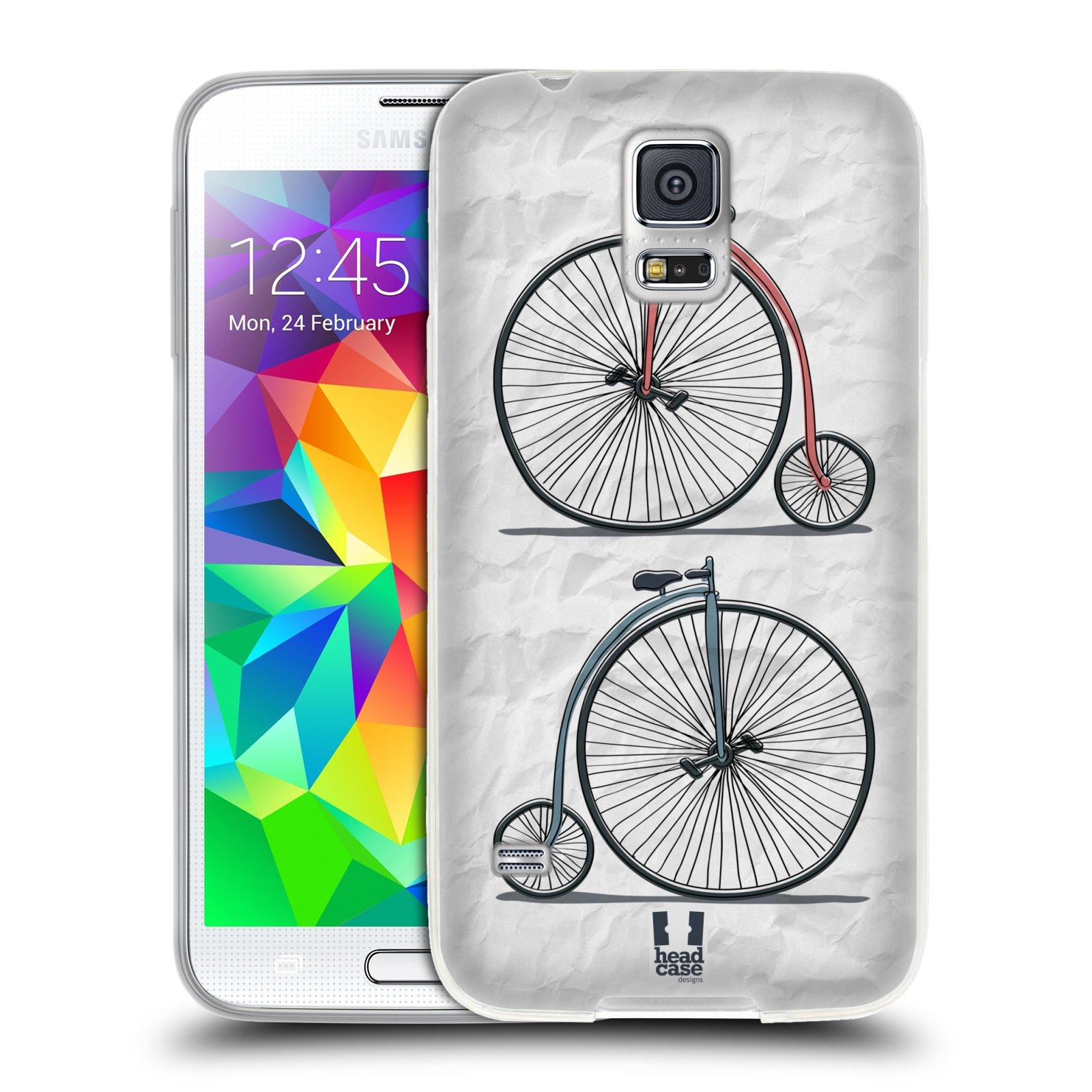 HEAD CASE silikonový obal na mobil Samsung Galaxy S5/S5 NEO vzor Retro kola VELKÉ KOLO