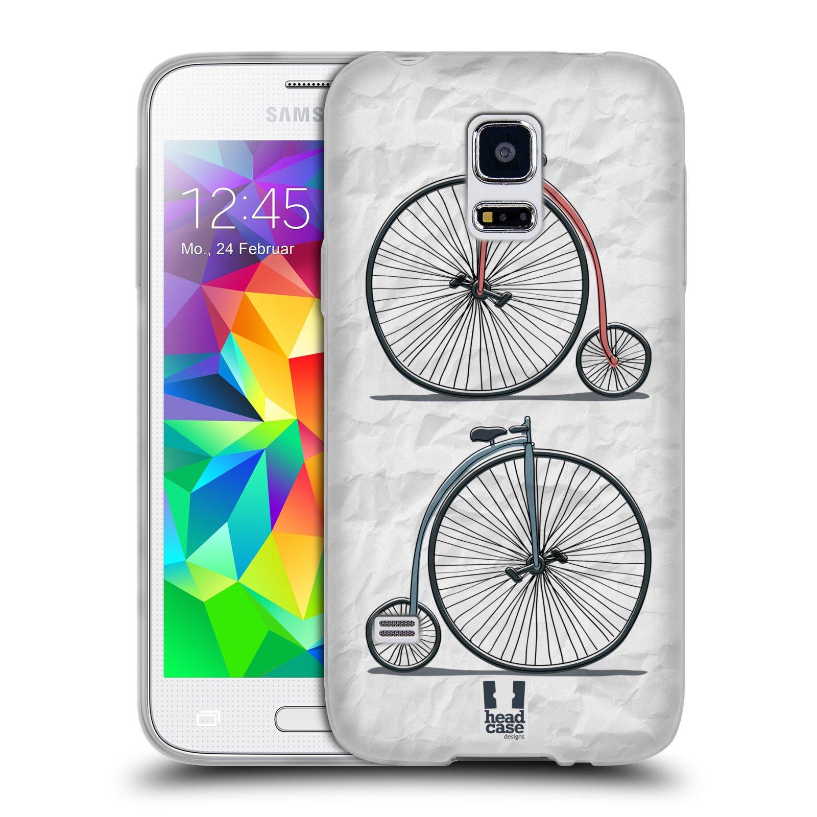 HEAD CASE silikonový obal na mobil Samsung Galaxy S5 MINI vzor Retro kola VELKÉ KOLO