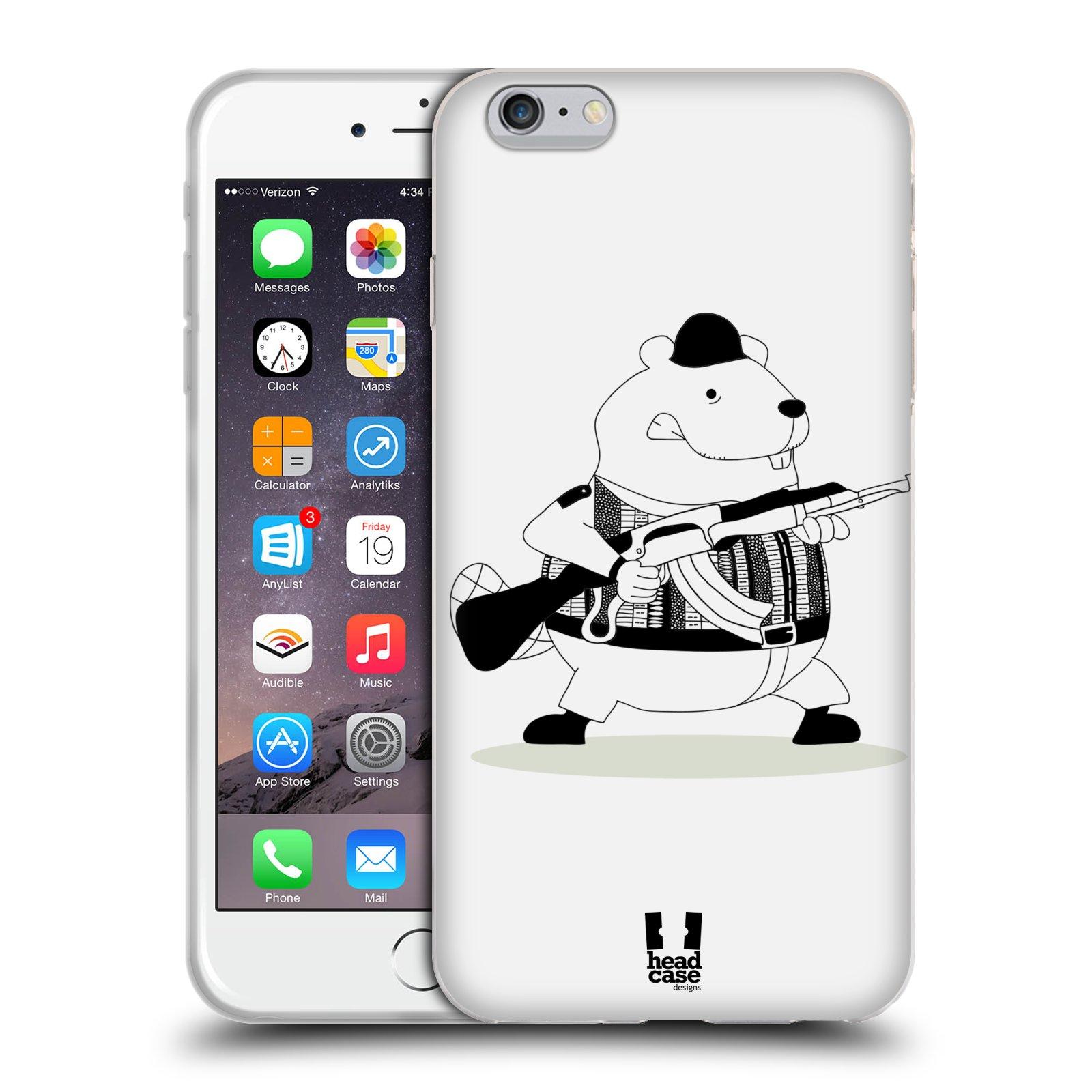 HEAD CASE silikonový obal na mobil Apple Iphone 6 PLUS/ 6S PLUS vzor Bizardní kreslená zvířátka bobr lovec