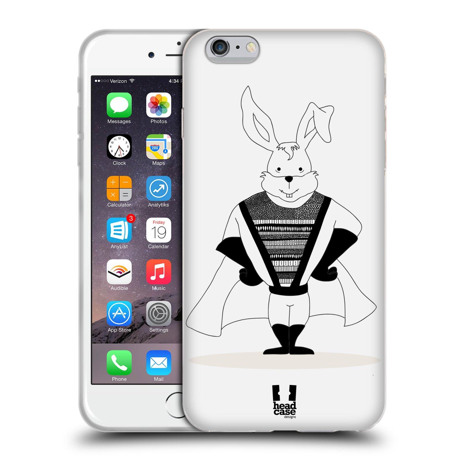 HEAD CASE silikonový obal na mobil Apple Iphone 6 PLUS/ 6S PLUS vzor Bizardní kreslená zvířátka superhrdina zajíc