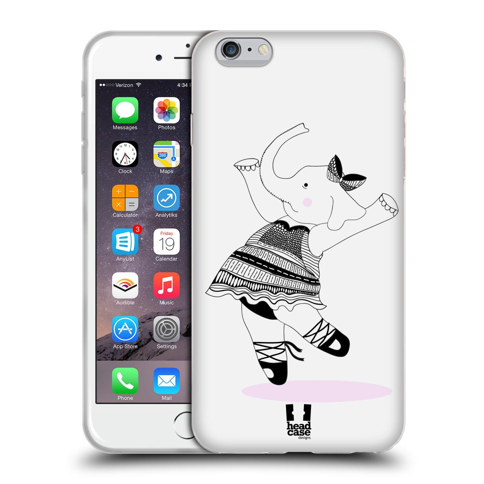 HEAD CASE silikonový obal na mobil Apple Iphone 6 PLUS/ 6S PLUS vzor Bizardní kreslená zvířátka slonice baletka