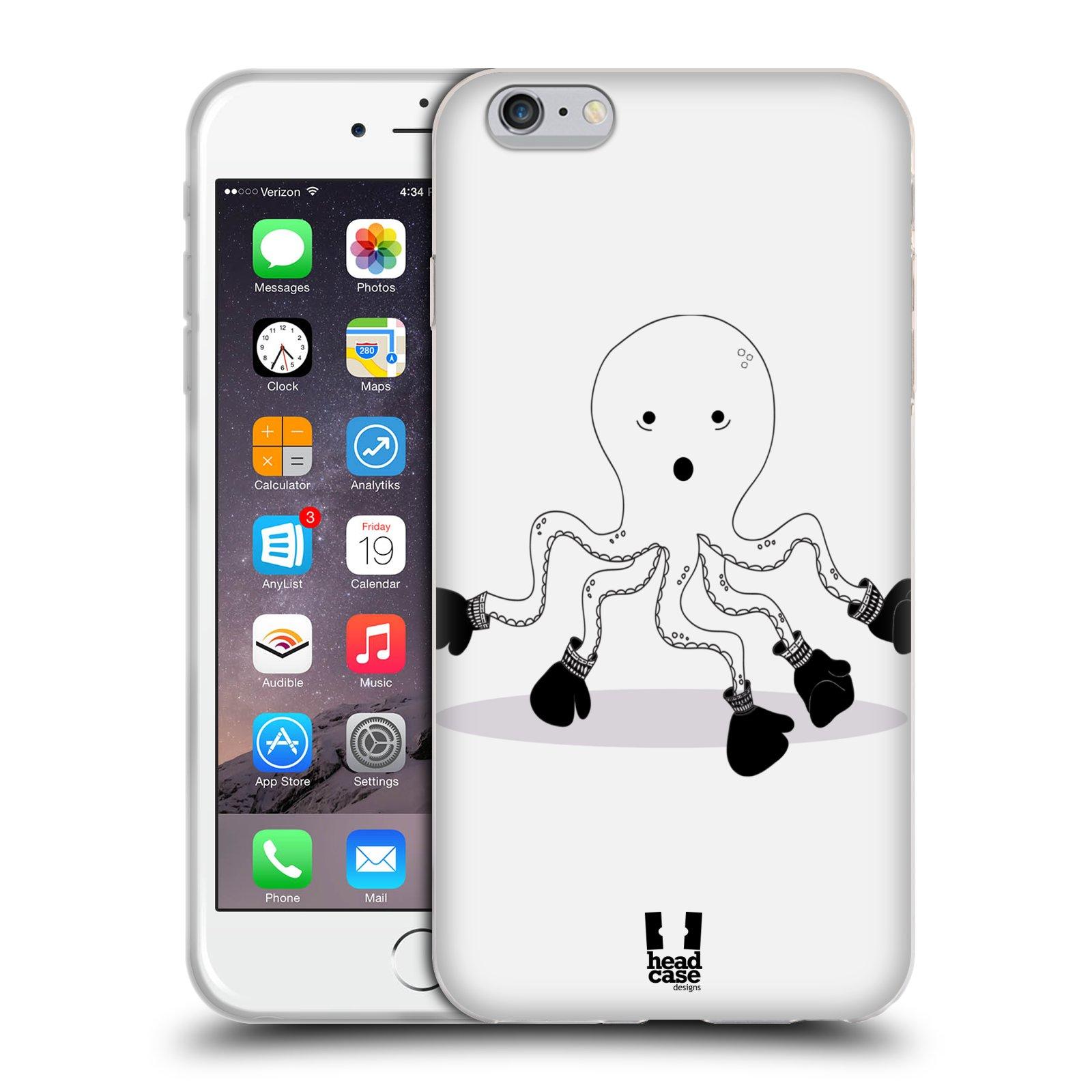 HEAD CASE silikonový obal na mobil Apple Iphone 6 PLUS/ 6S PLUS vzor Bizardní kreslená zvířátka boxer chobotnice