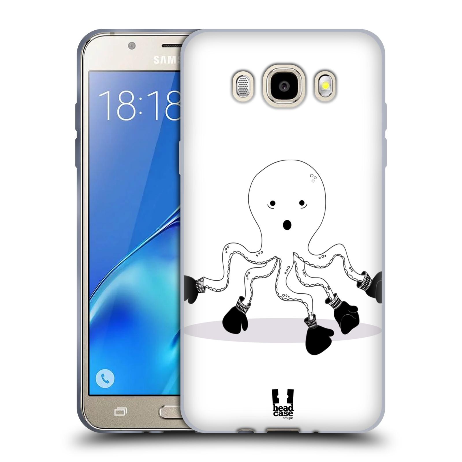 HEAD CASE silikonový obal, kryt na mobil Samsung Galaxy J5 2016, J510, J510F, (J510F DUAL SIM) vzor Bizardní kreslená zvířátka boxer chobotnice