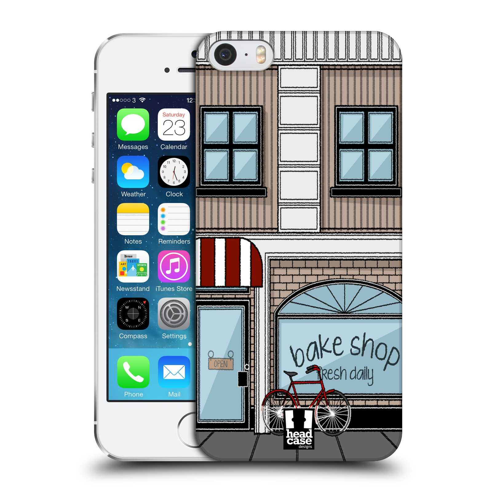 HEAD CASE DESIGNS BUILDINGS HARD BACK CASE FOR APPLE iPHONE 5S