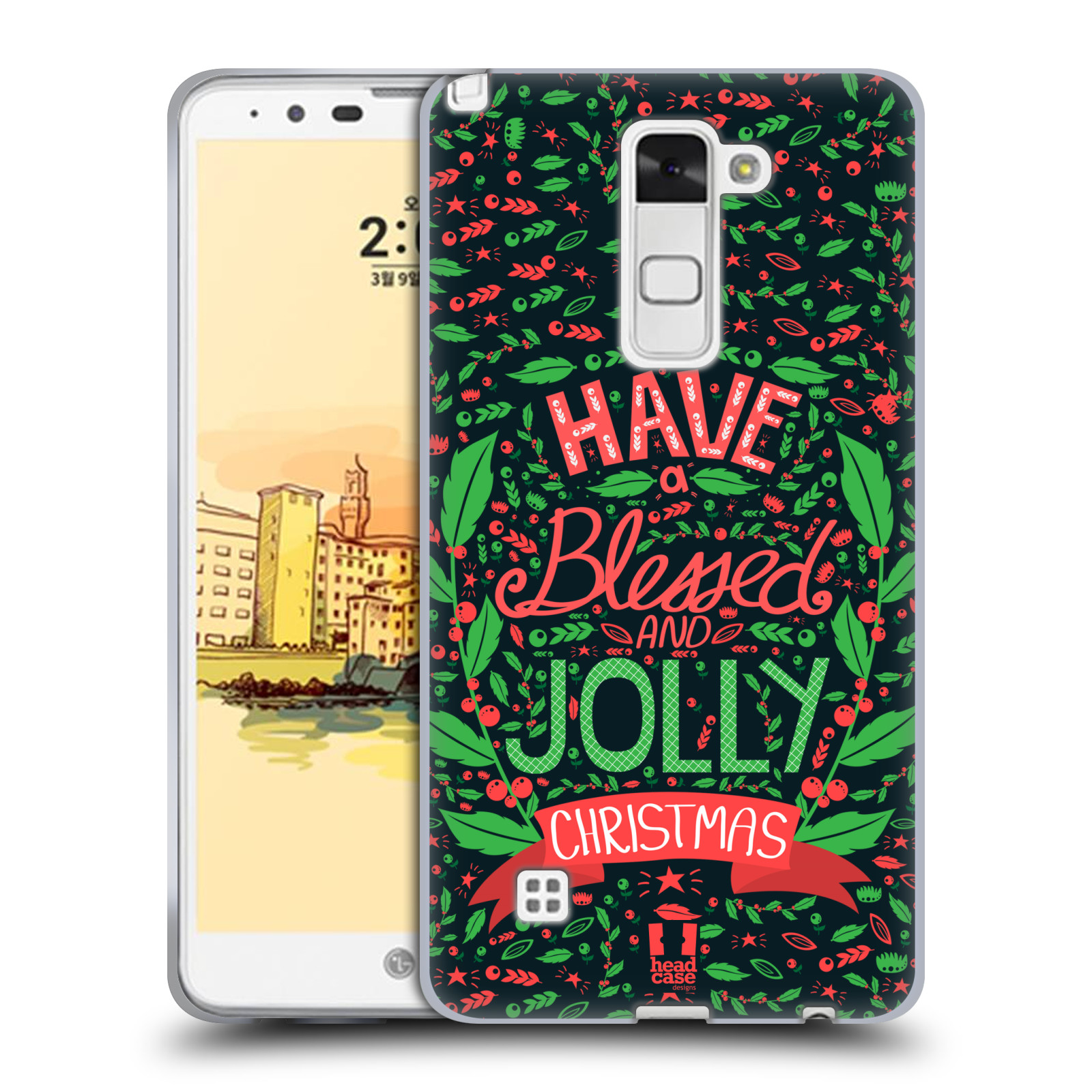 HEAD CASE DESIGNS BLESSED CHRISTMAS SOFT GEL CASE FOR LG STYLUS 2