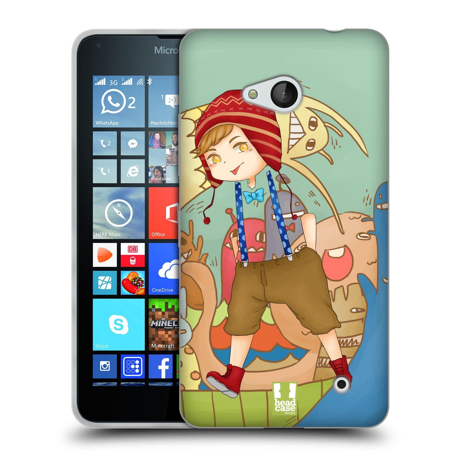 HEAD CASE silikonový obal na mobil Microsoft / Nokia Lumia 640 / Lumia 640 DUAL vzor Kreslené postavičky vesmír zmizení POHODÁŘ