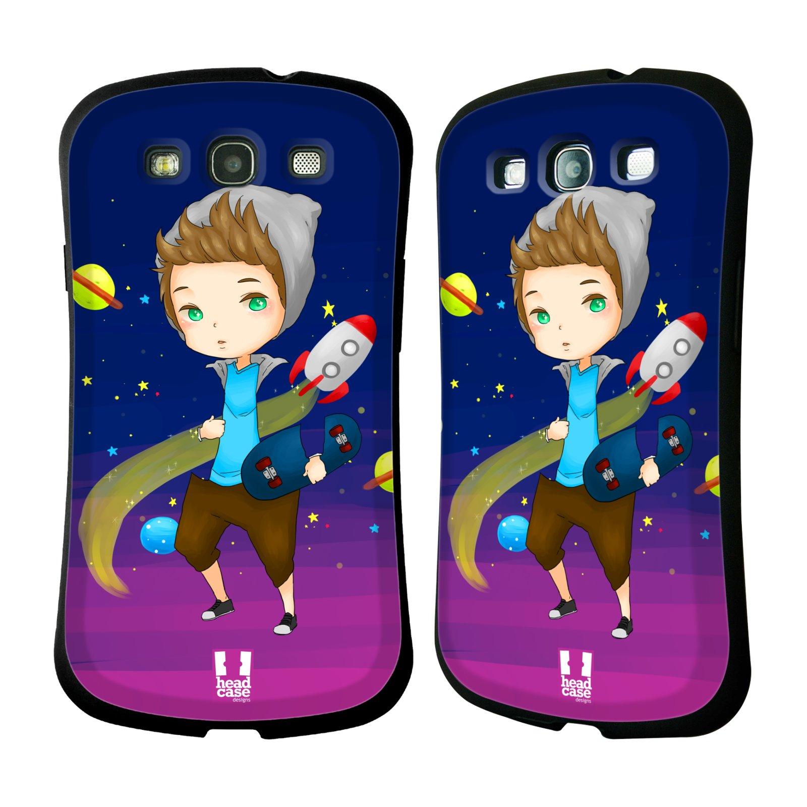 HEAD CASE silikon/plast odolný obal na mobil Samsung Galaxy S3 vzor Kreslené postavičky vesmír zmizení GALAXIE