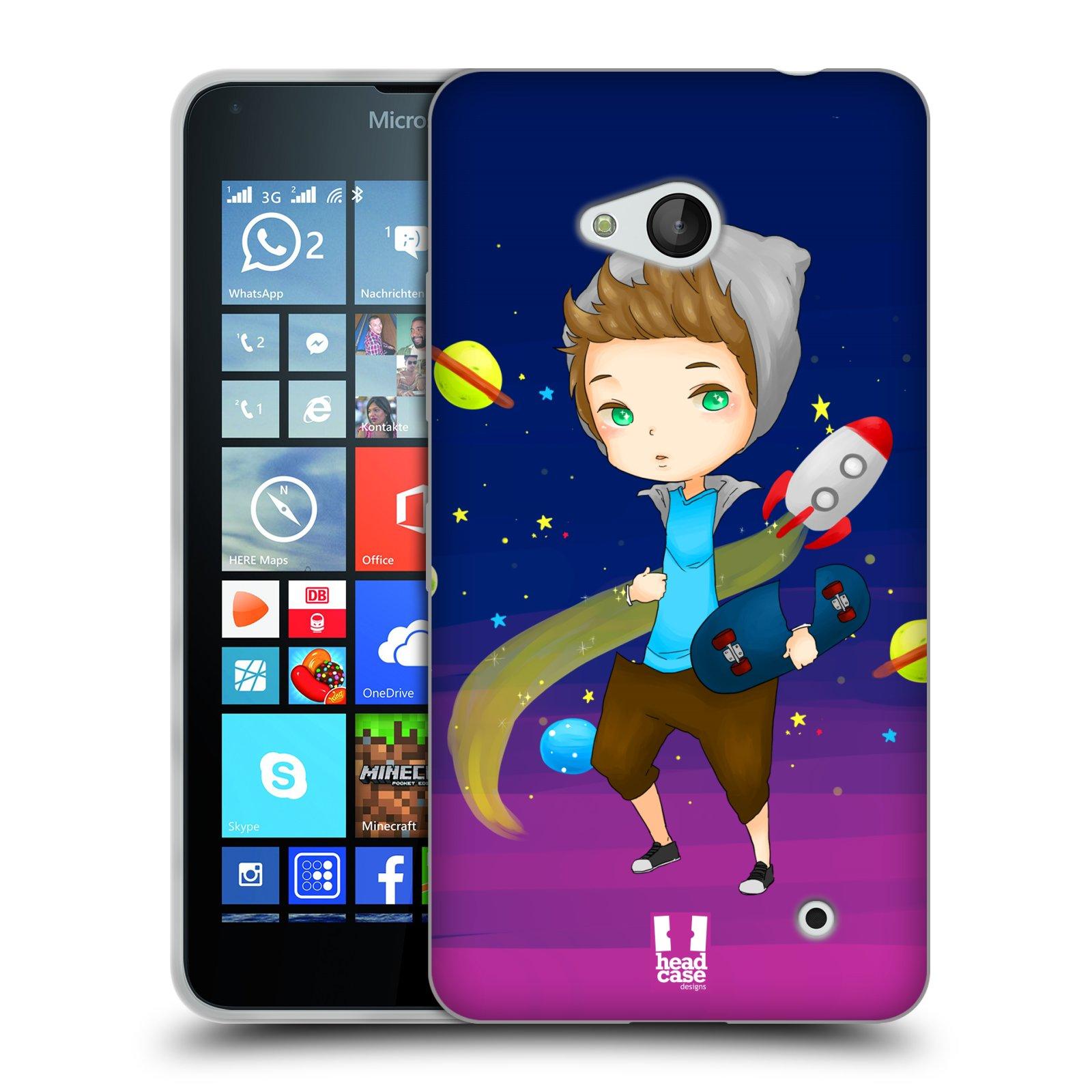HEAD CASE silikonový obal na mobil Microsoft / Nokia Lumia 640 / Lumia 640 DUAL vzor Kreslené postavičky vesmír zmizení GALAXIE