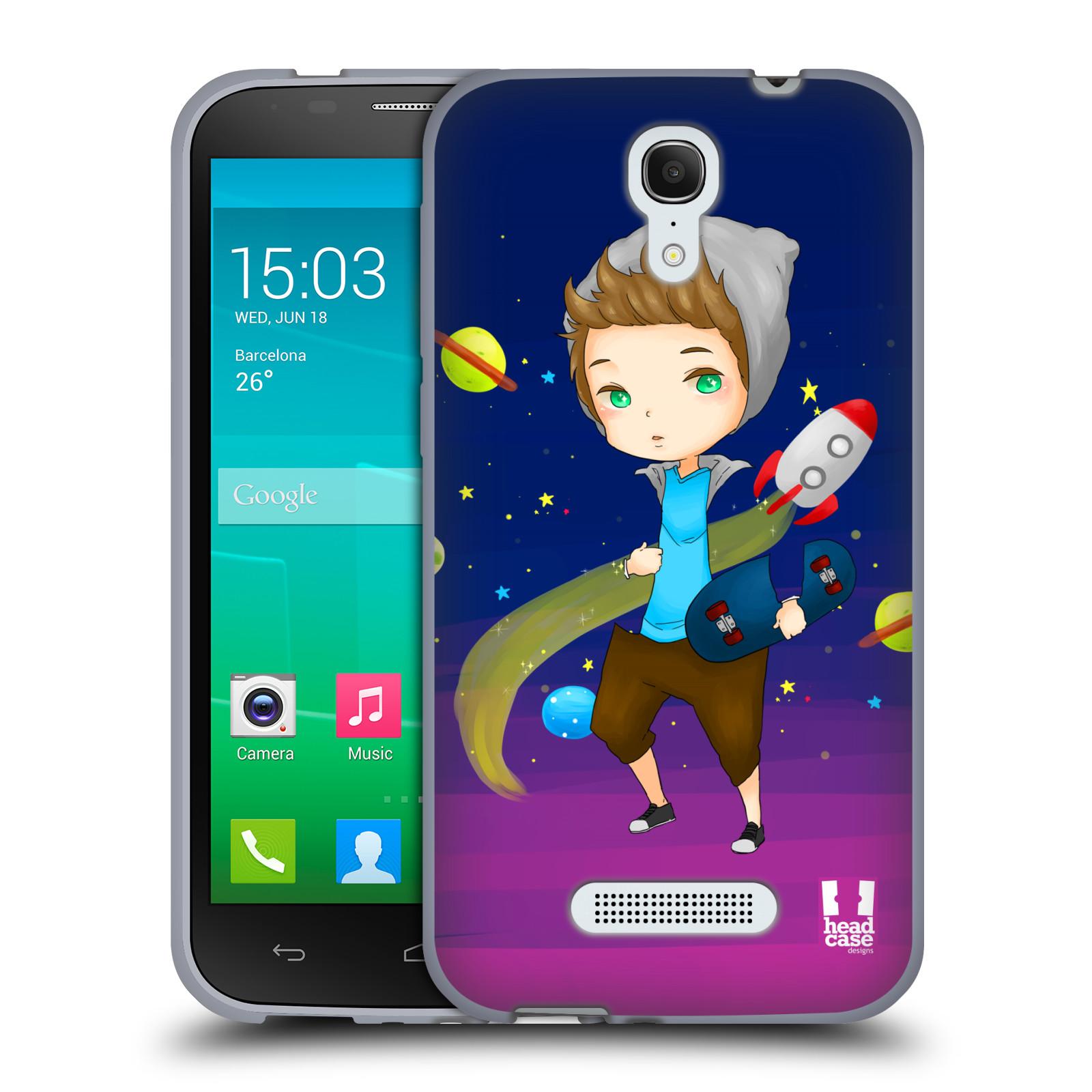HEAD CASE silikonový obal na mobil Alcatel POP S7 vzor Kreslené postavičky vesmír zmizení GALAXIE