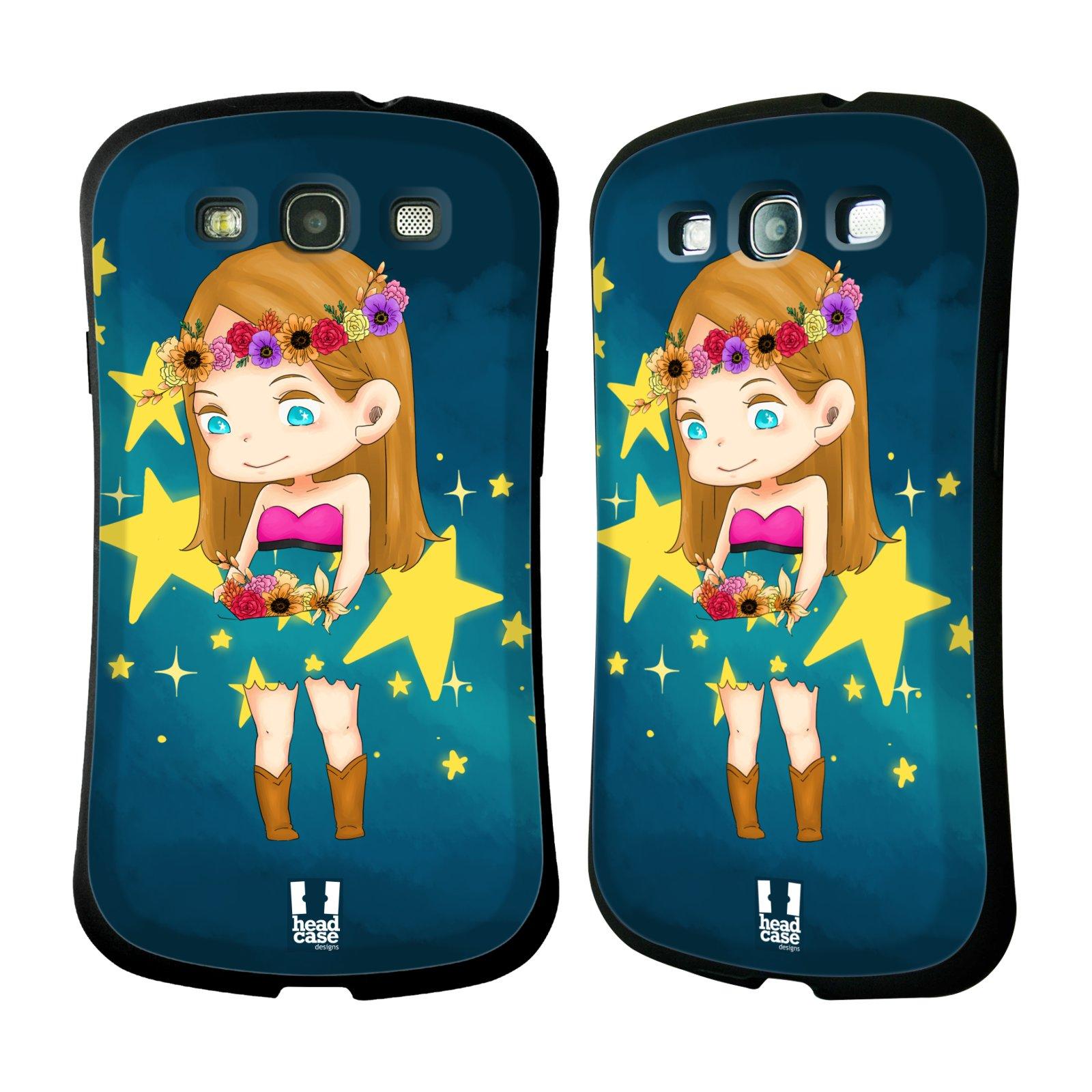 HEAD CASE silikon/plast odolný obal na mobil Samsung Galaxy S3 vzor Kreslené postavičky vesmír zmizení HVĚZDA
