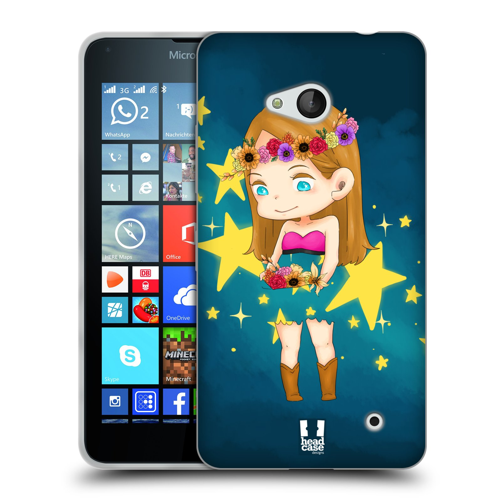 HEAD CASE silikonový obal na mobil Microsoft / Nokia Lumia 640 / Lumia 640 DUAL vzor Kreslené postavičky vesmír zmizení HVĚZDA
