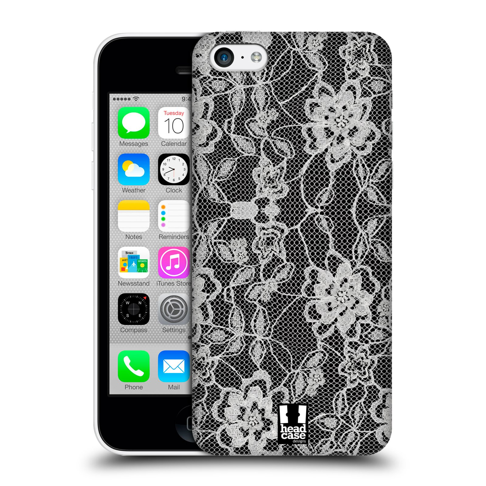 HEAD-CASE-DESIGNS-BLACK-LACE-PROTECTIVE-HARD-BACK-CASE-COVER-FOR-APPLE-iPHONE-5C