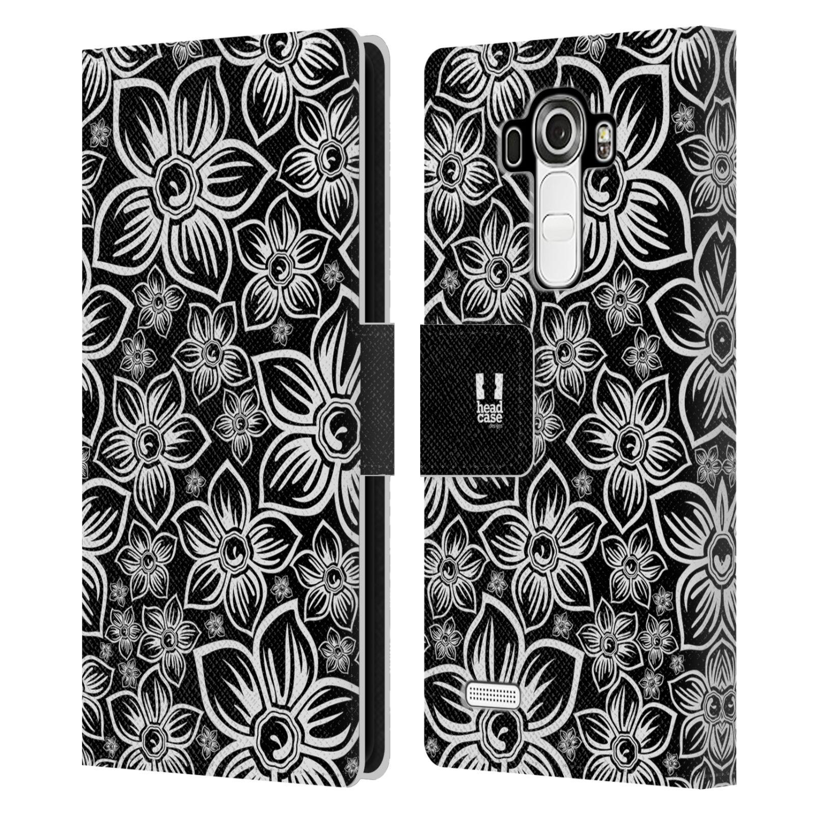 HEAD CASE Flipové pouzdro pro mobil LG G4 (H815) ČERNOBÍLÁ KVĚTINA sedmikráska