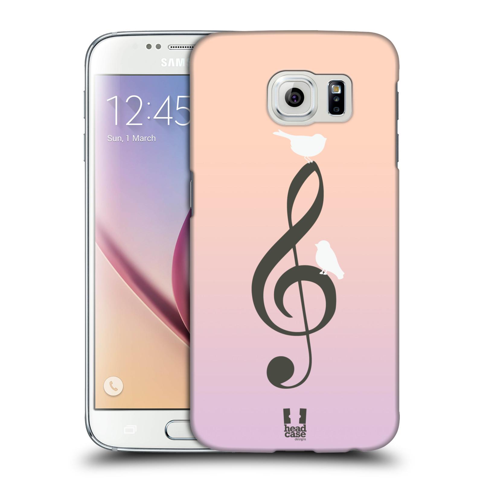 HEAD CASE plastový obal na mobil SAMSUNG Galaxy S6 (G9200, G920F) vzor Ptáček zpěváček noty nota