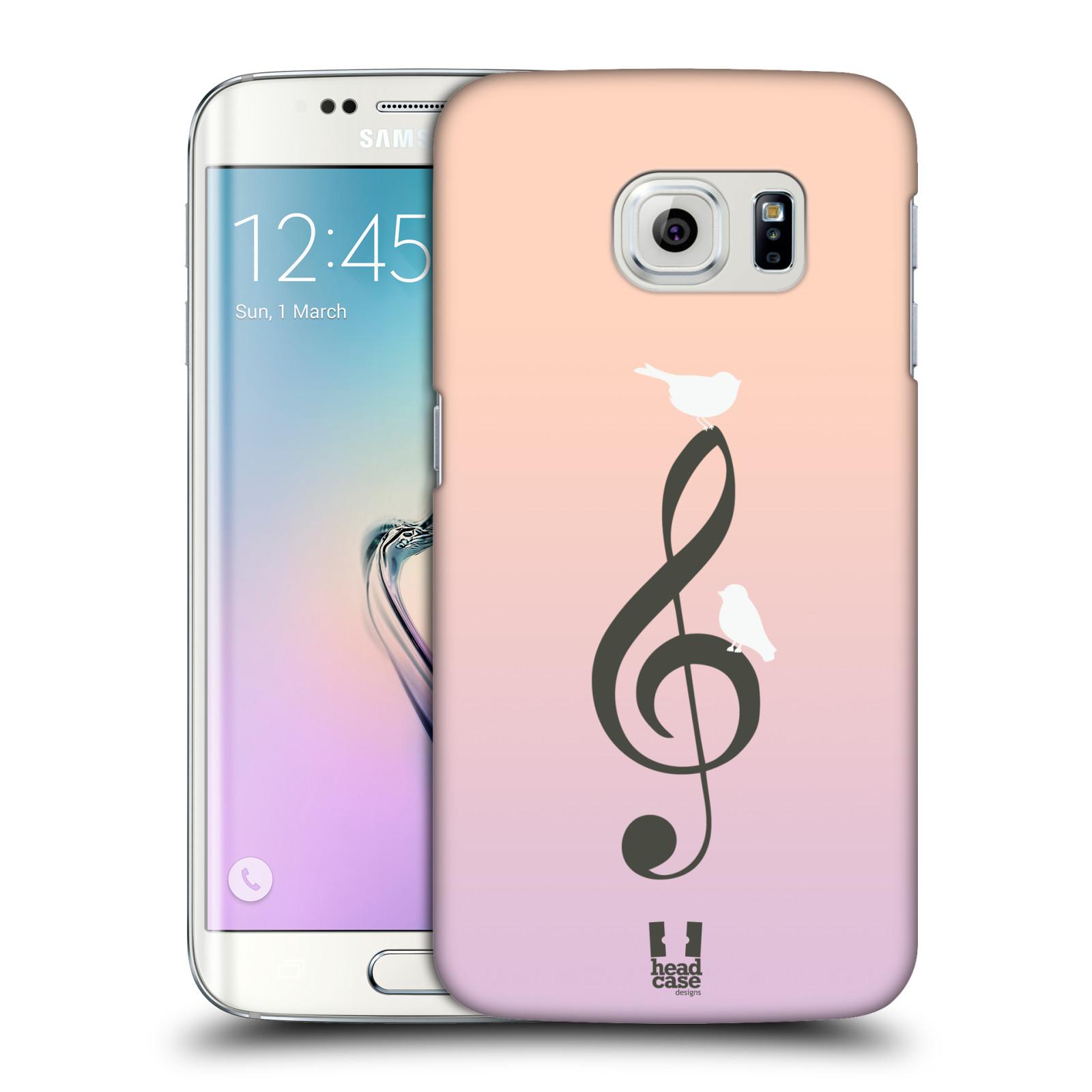 HEAD CASE plastový obal na mobil SAMSUNG Galaxy S6 EDGE (G9250, G925, G925F) vzor Ptáček zpěváček noty nota