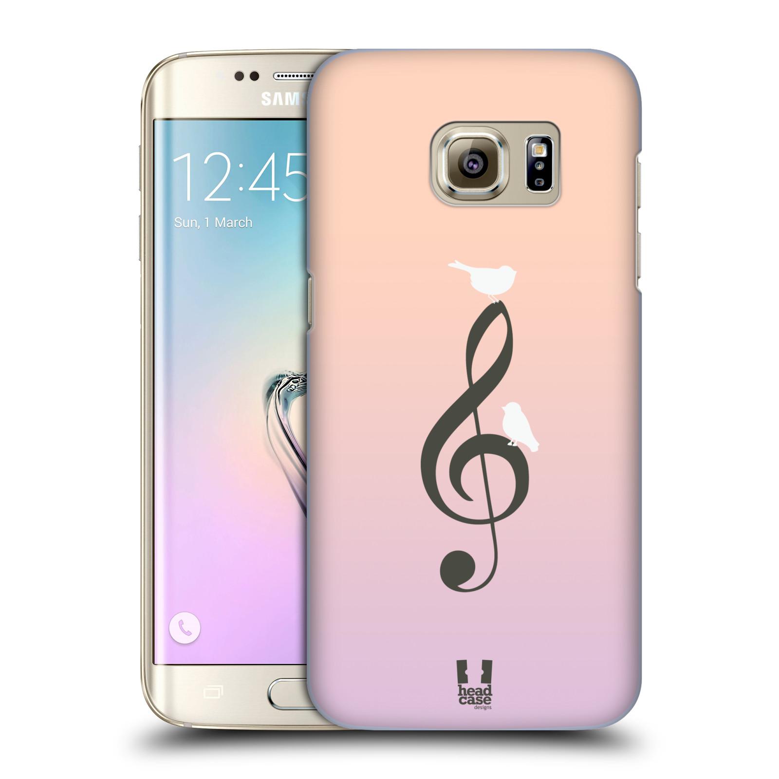 HEAD CASE plastový obal na mobil SAMSUNG GALAXY S7 EDGE vzor Ptáček zpěváček noty nota